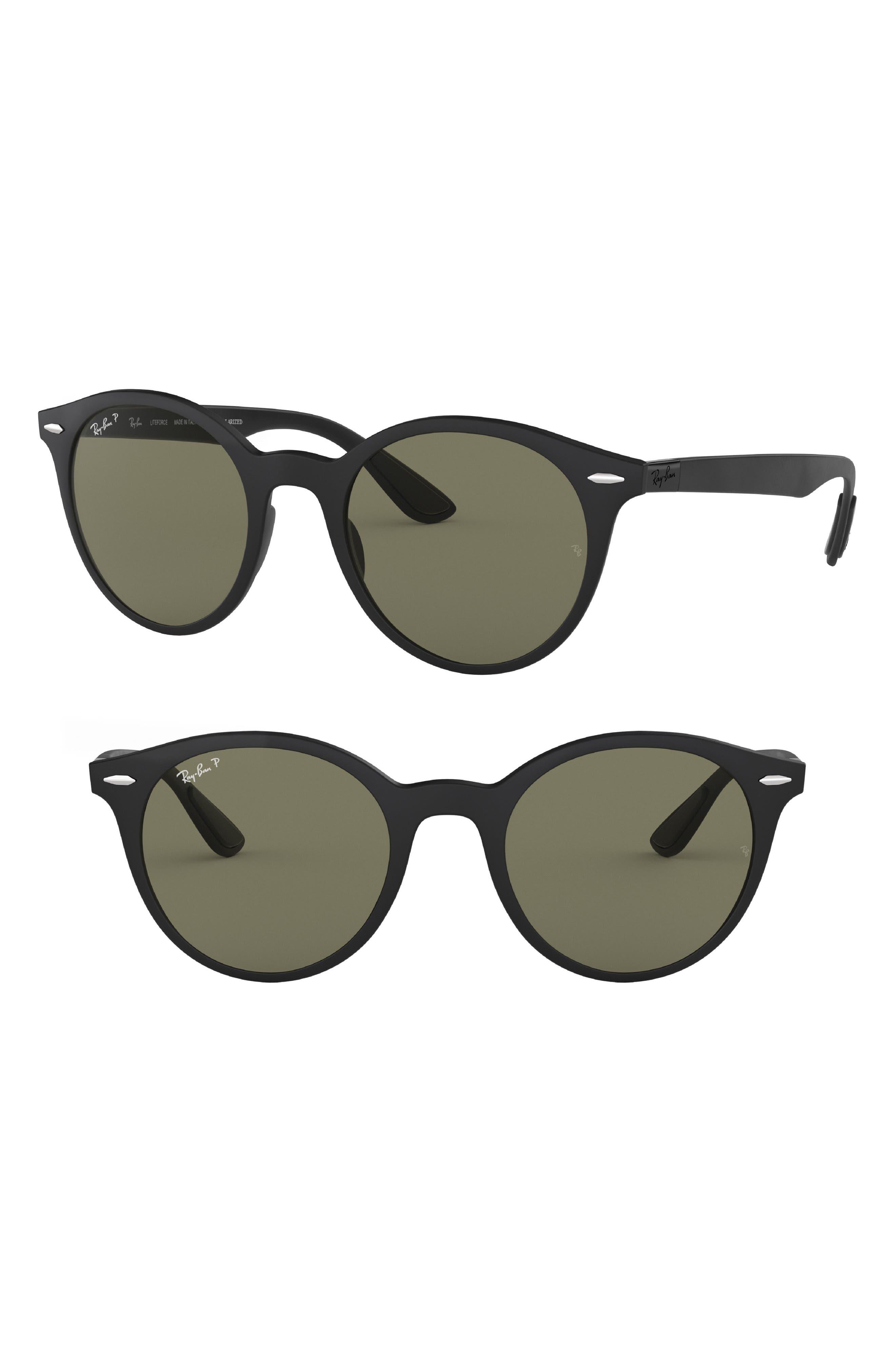 Phantos 50mm Polarized Sunglasses,                             Main thumbnail 1, color,                             MATTE BLACK