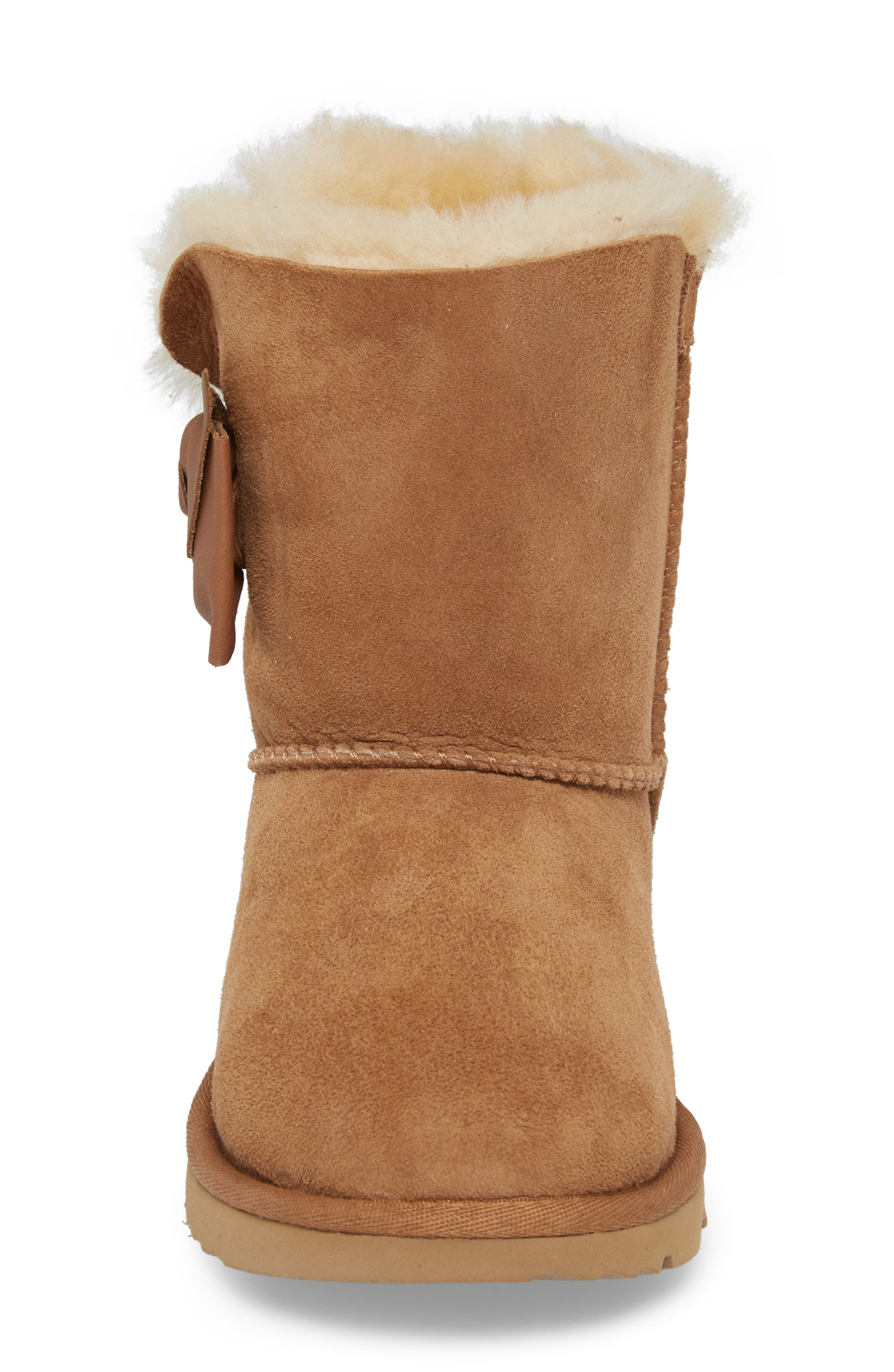 UGG<SUP>®</SUP>,                             Daelynn Bow Genuine Shearling Boot,                             Alternate thumbnail 4, color,                             219