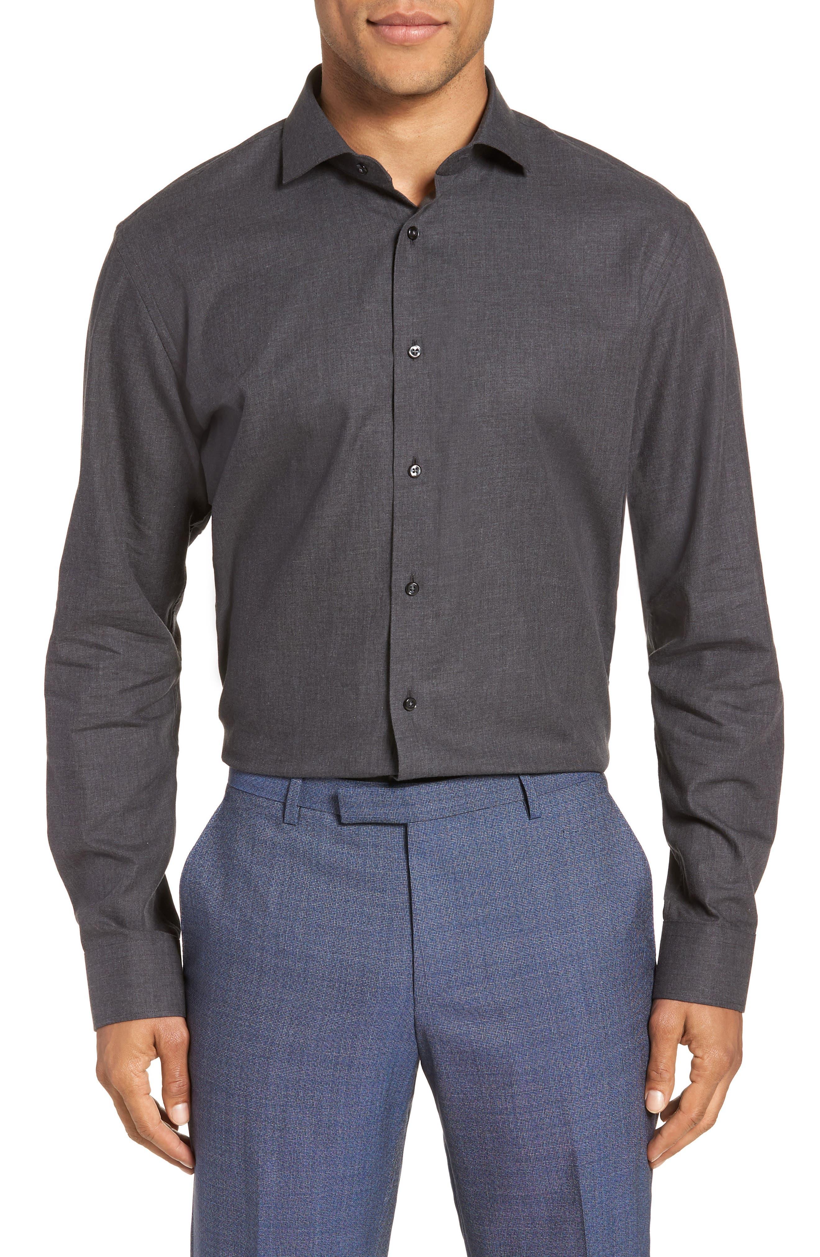 1901 Trim Fit Solid Dress Shirt, Main, color, 050