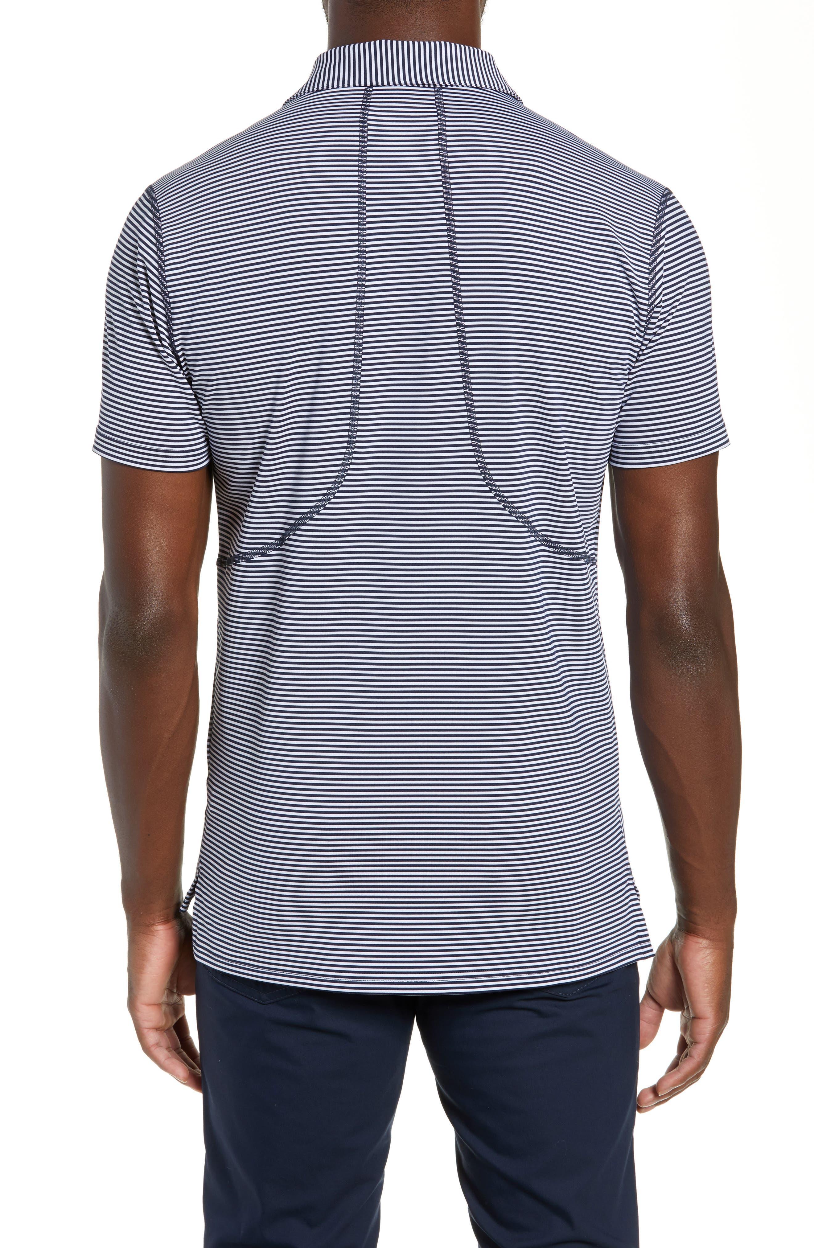 Flatiron Slim Fit Jacquard Jersey Polo,                             Alternate thumbnail 2, color,                             NAVY/ WHITE