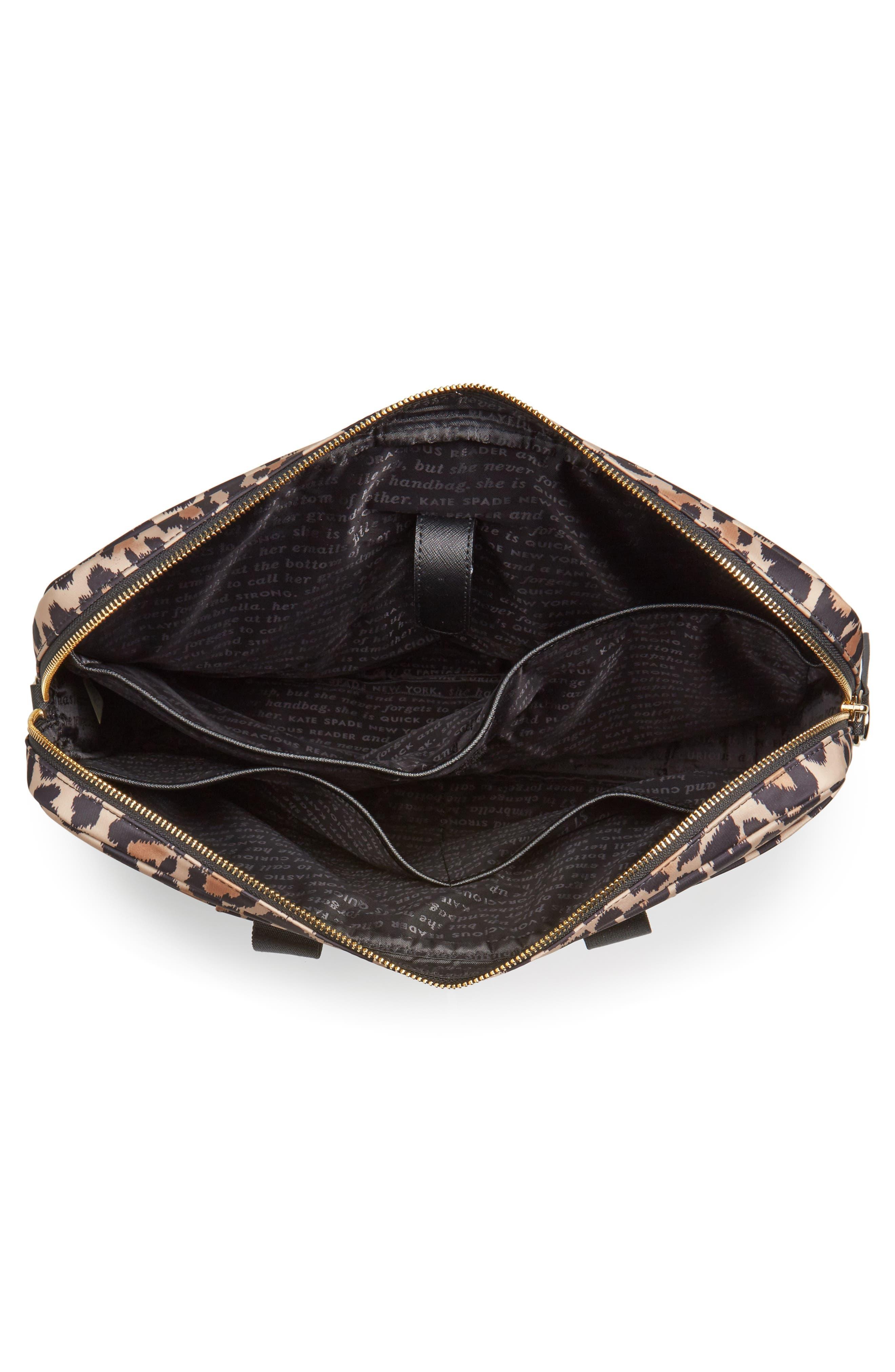 leopard commuter bag,                             Alternate thumbnail 3, color,