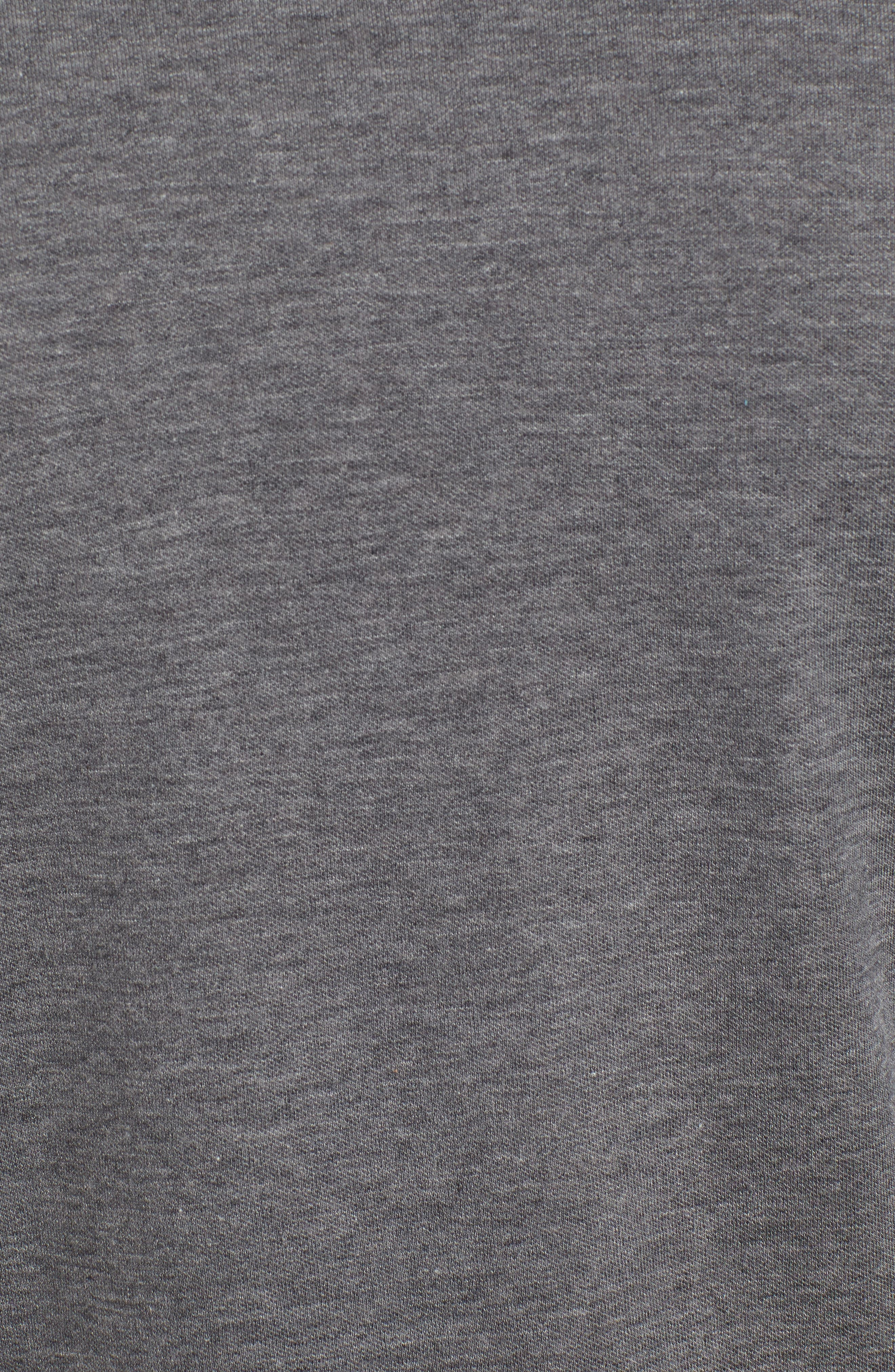 Crown Comfort Jersey Quarter Zip Pullover,                             Alternate thumbnail 5, color,                             CHARCOAL