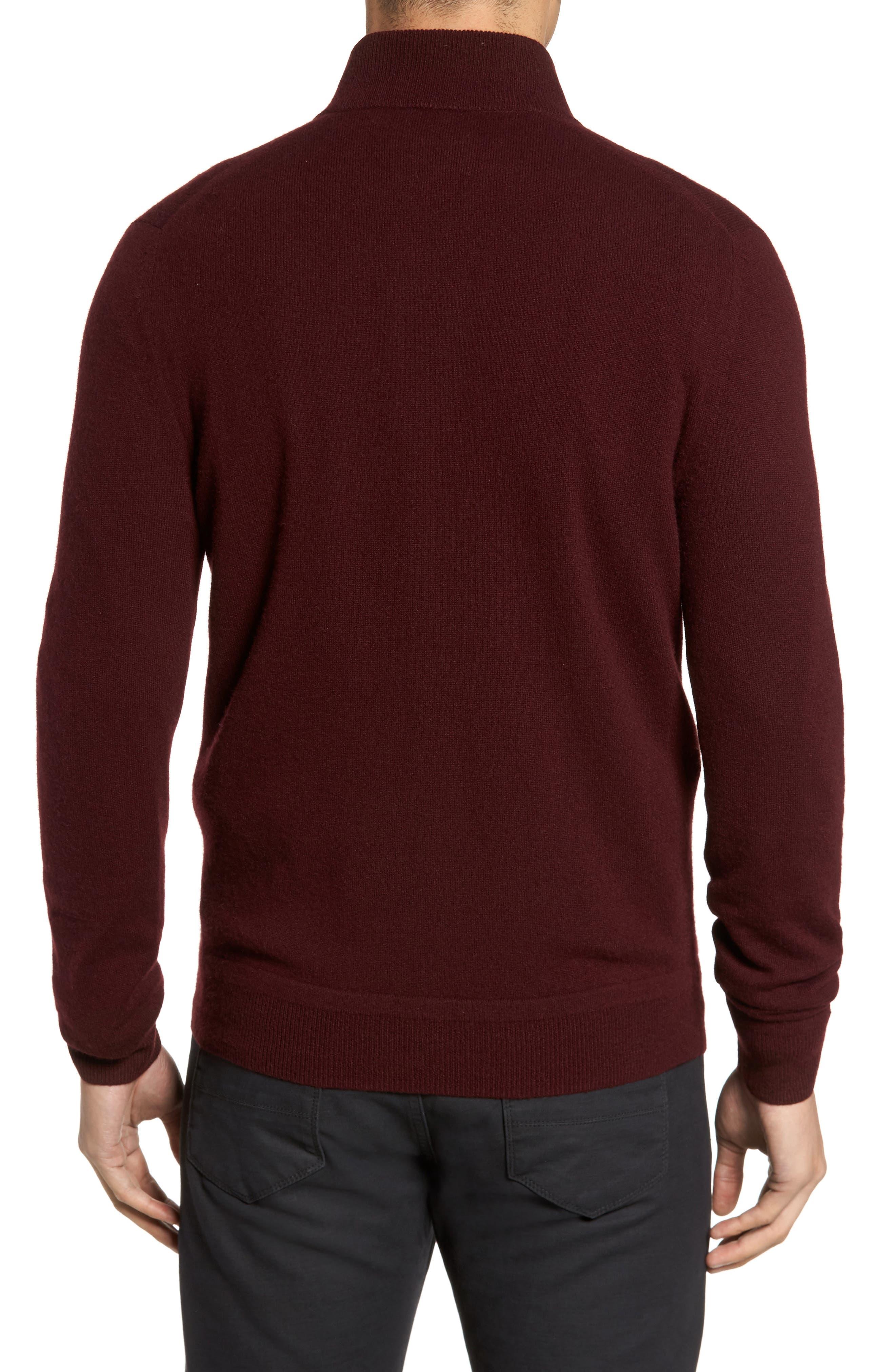 Cashmere Quarter Zip Sweater,                             Alternate thumbnail 12, color,