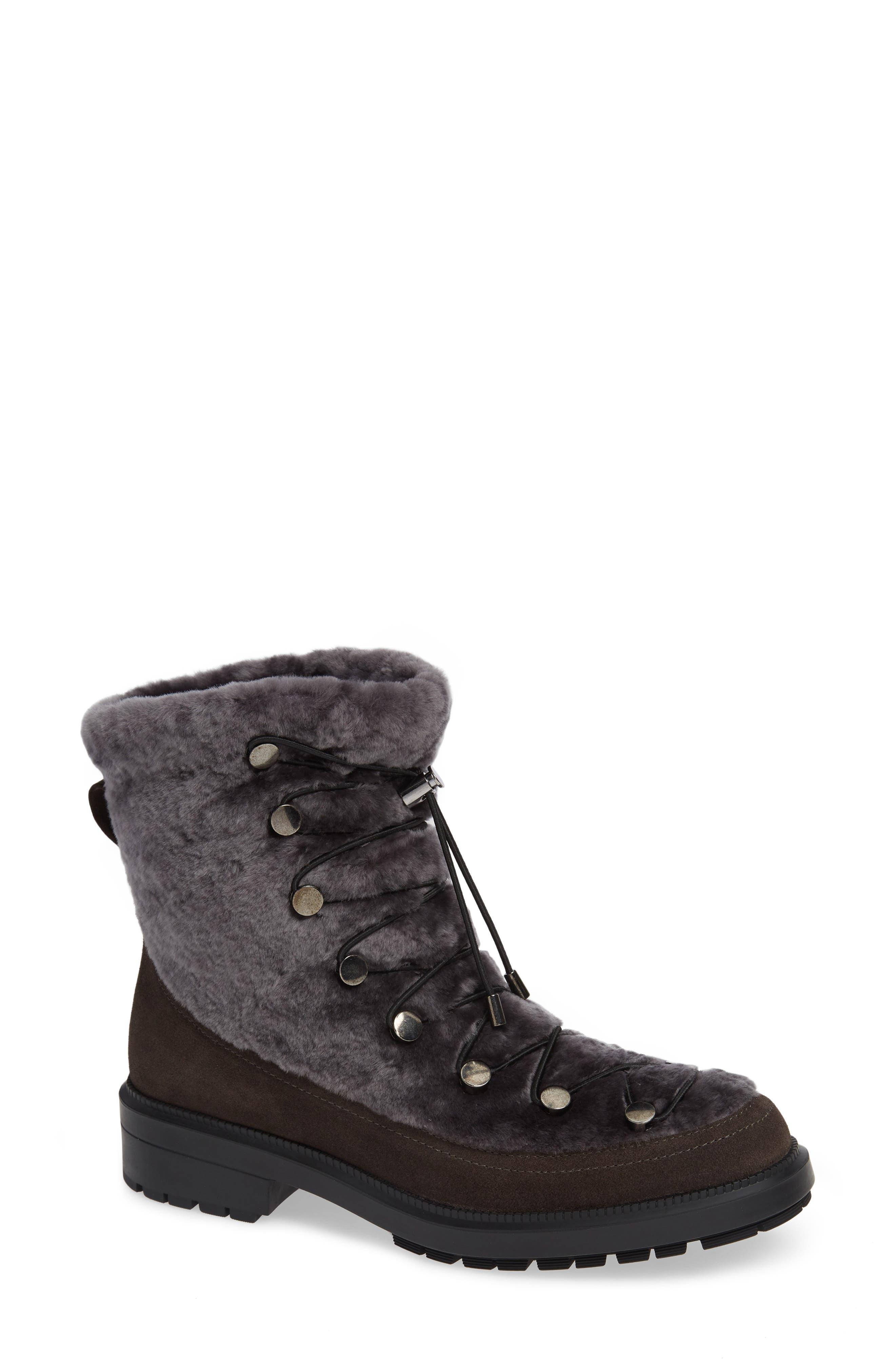 Aquatalia Lorena Genuine Shearling Boot, Grey