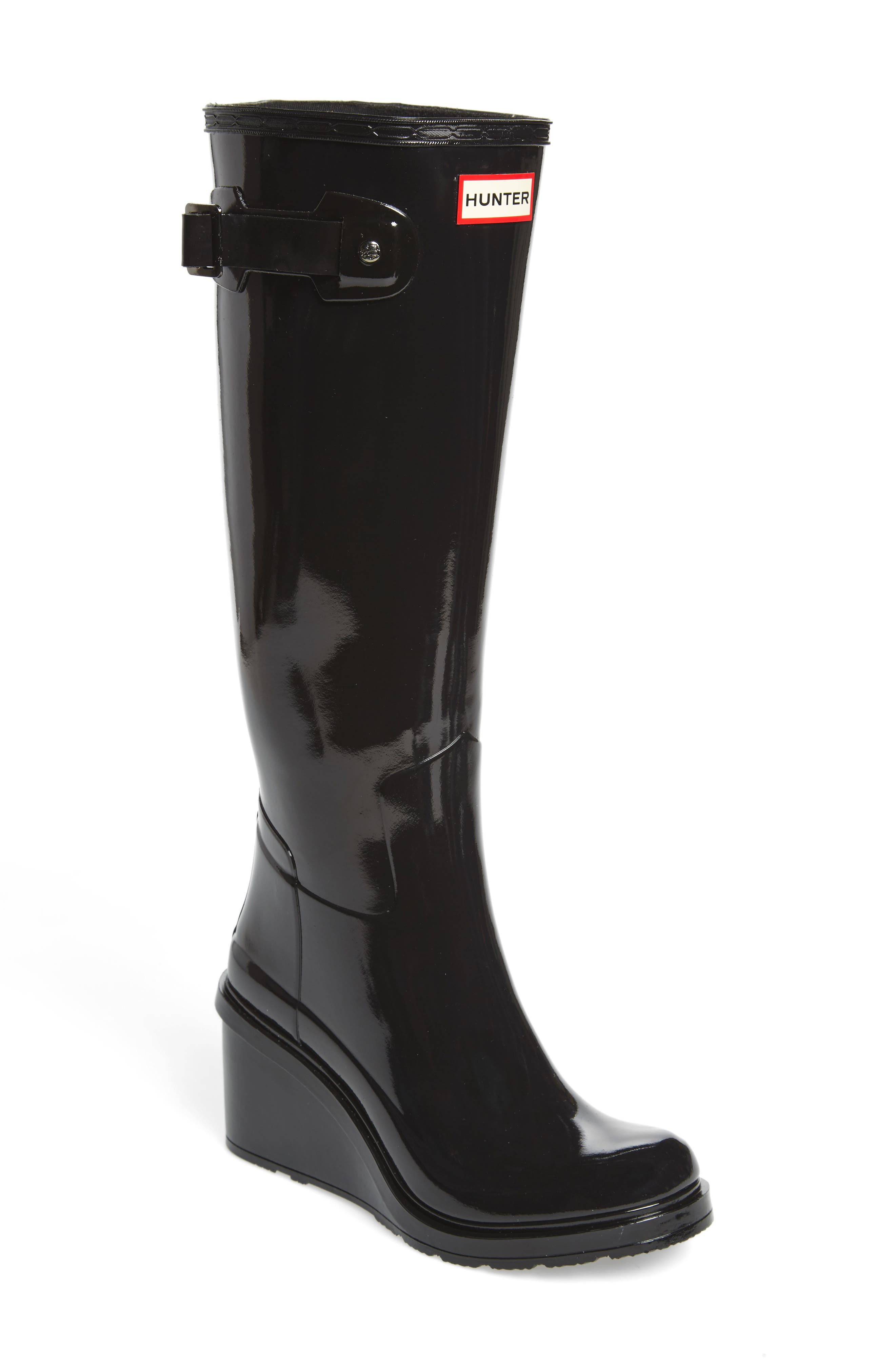 Original Refined Wedge Rain Boot,                         Main,                         color,