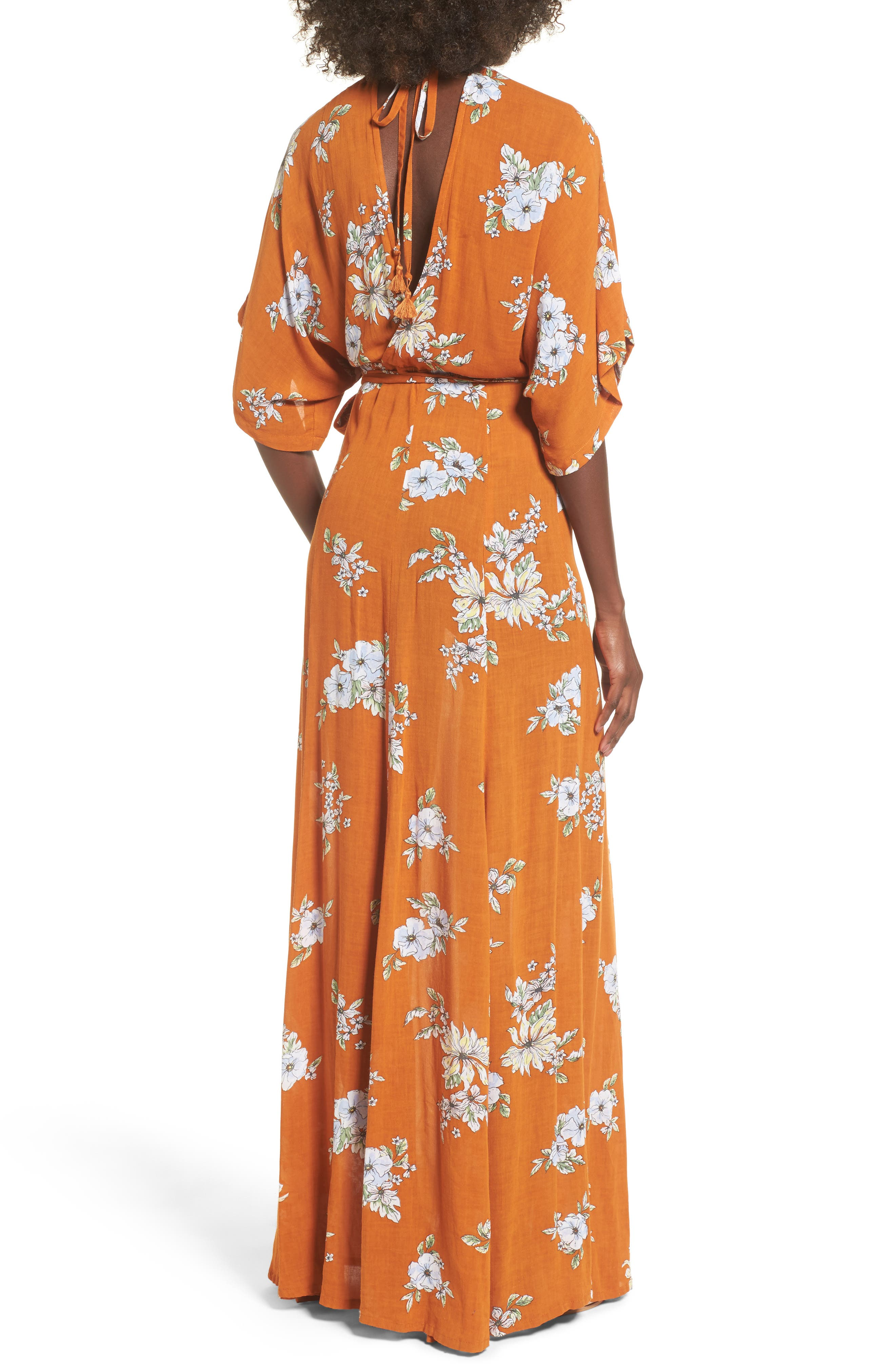 Bergamo Floral Wrap Maxi Dress,                             Alternate thumbnail 2, color,