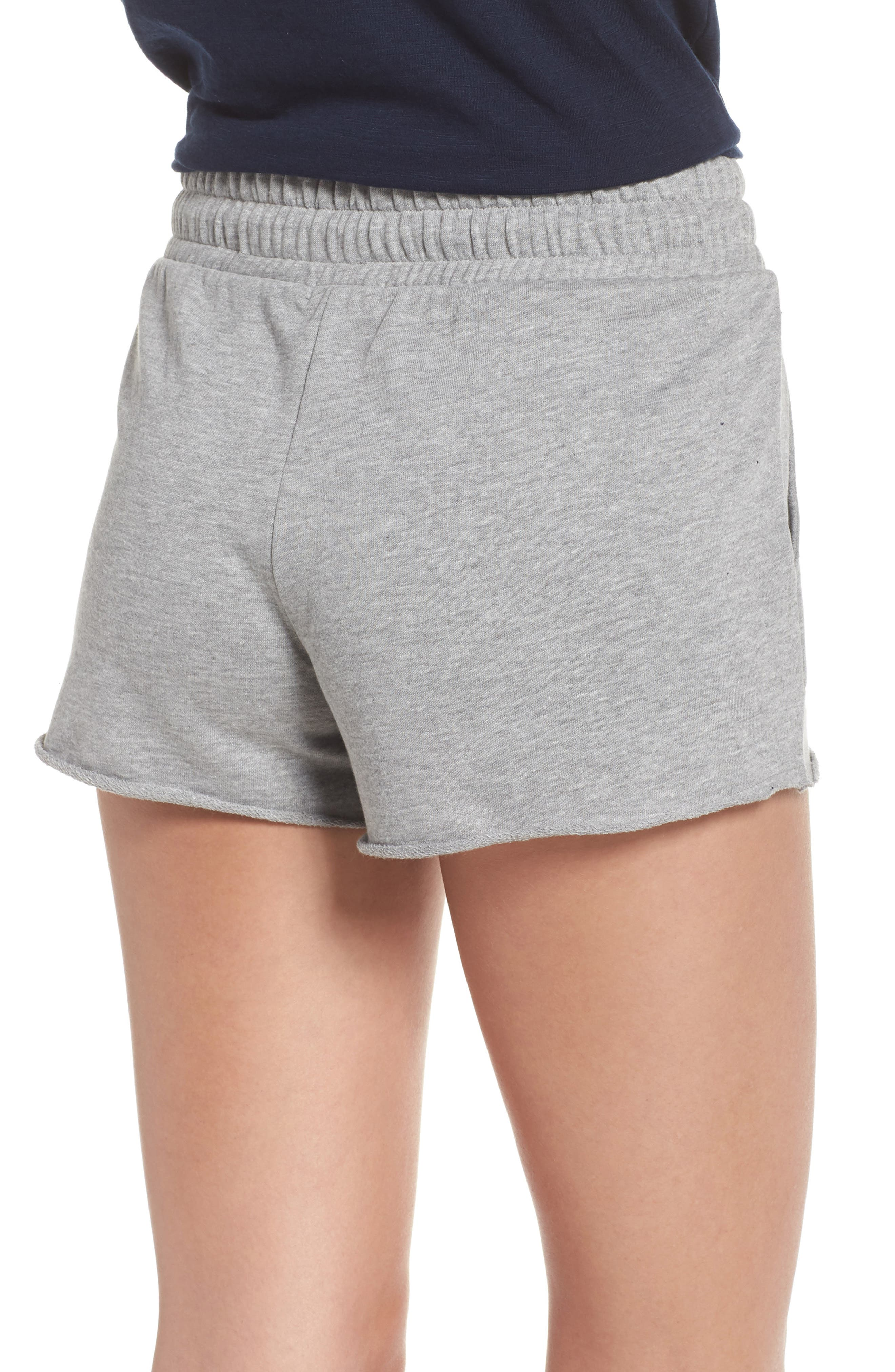 Raw Edge Pajama Shorts,                             Alternate thumbnail 2, color,                             020