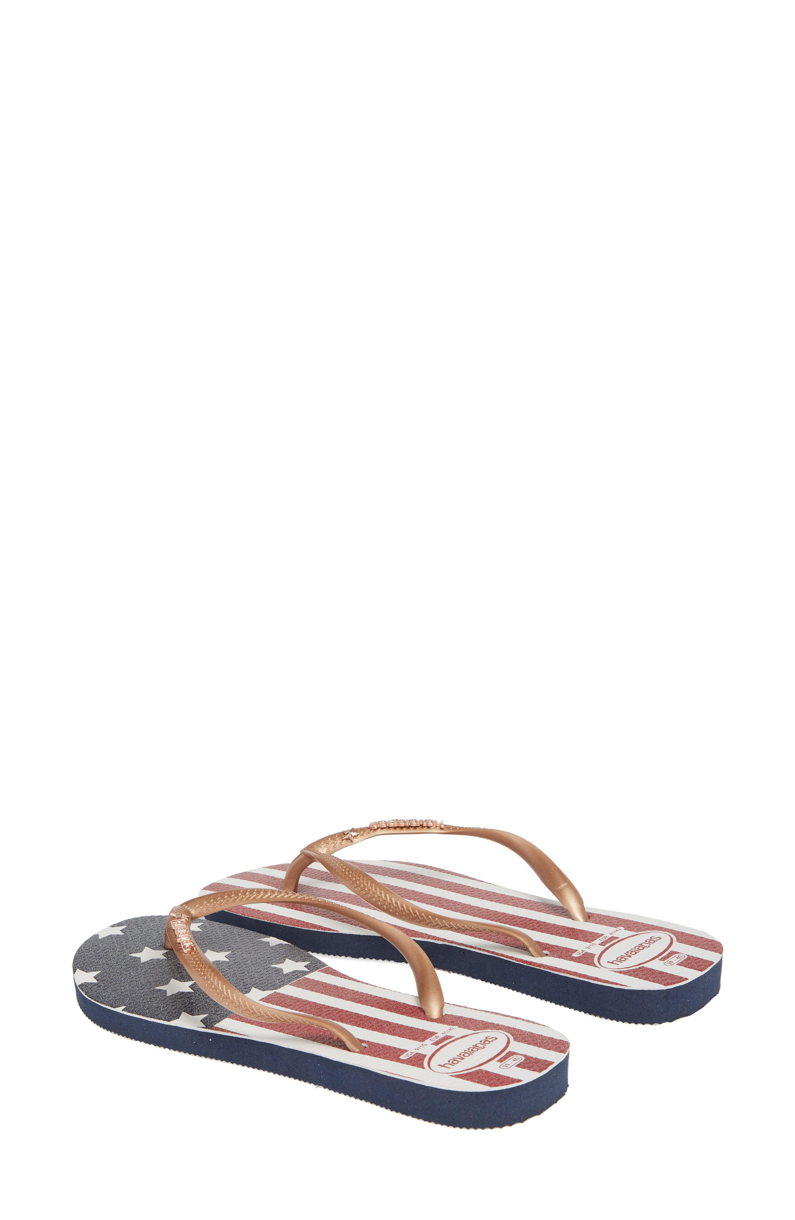HAVAIANAS,                             USA Slim Flip Flop,                             Alternate thumbnail 2, color,                             403