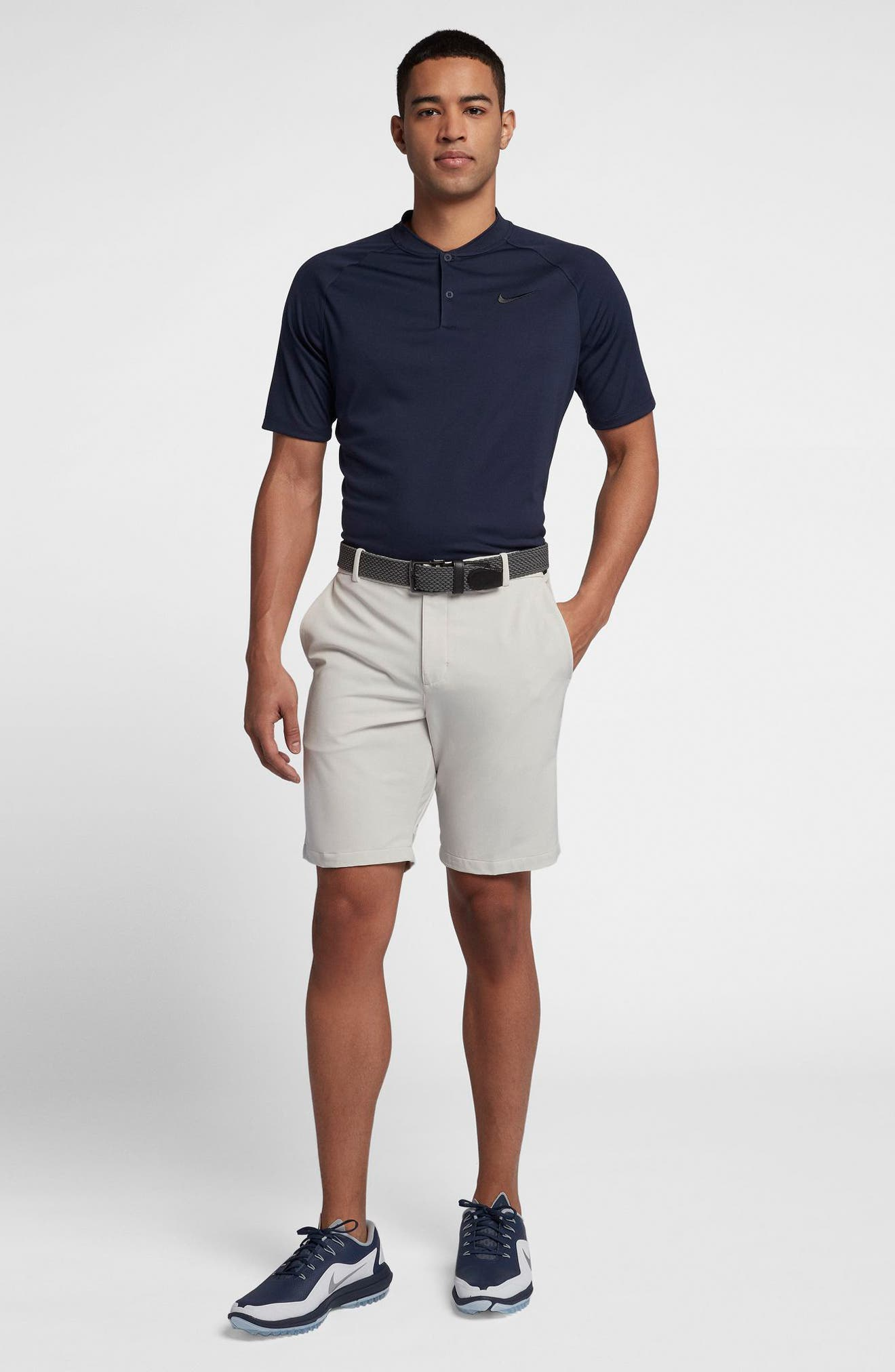 Dry Momentum Golf Polo,                             Alternate thumbnail 8, color,                             COLLEGE NAVY/ WHITE