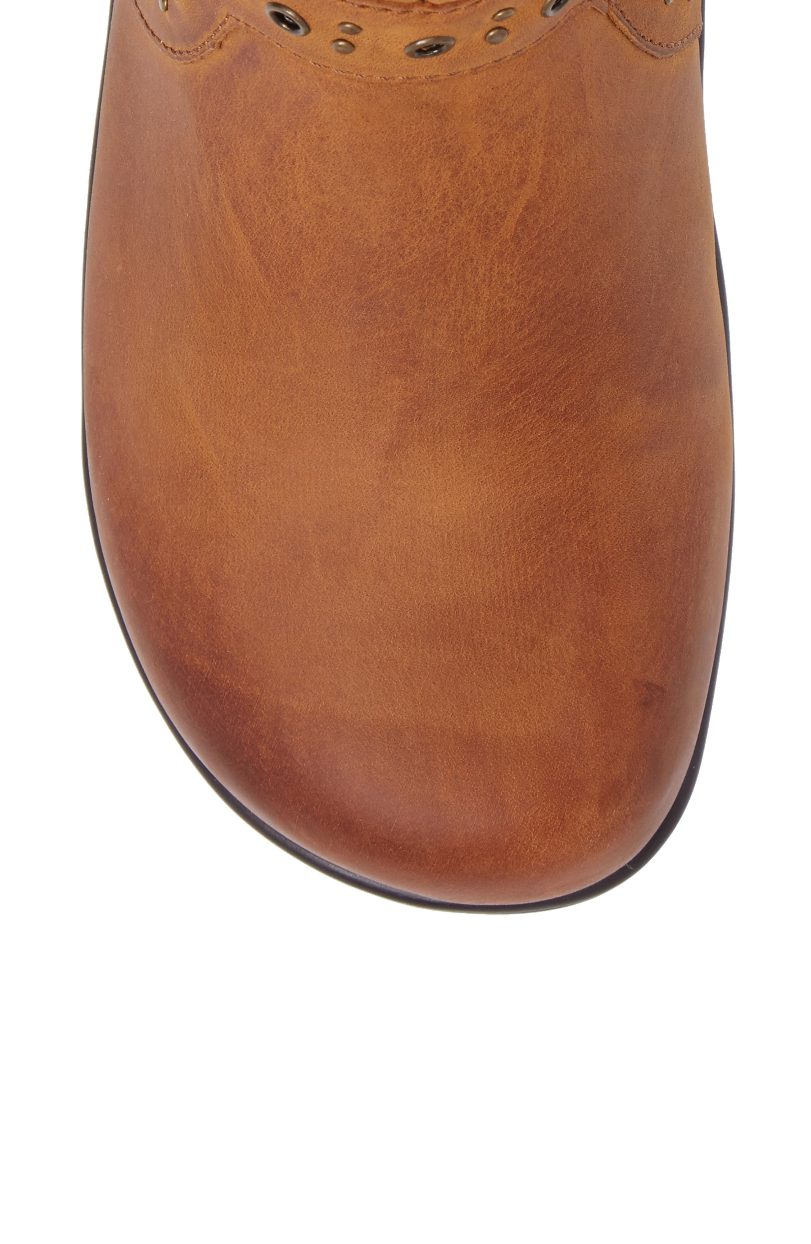 Zoey Ankle Boot,                             Alternate thumbnail 5, color,                             WALNUT LEATHER