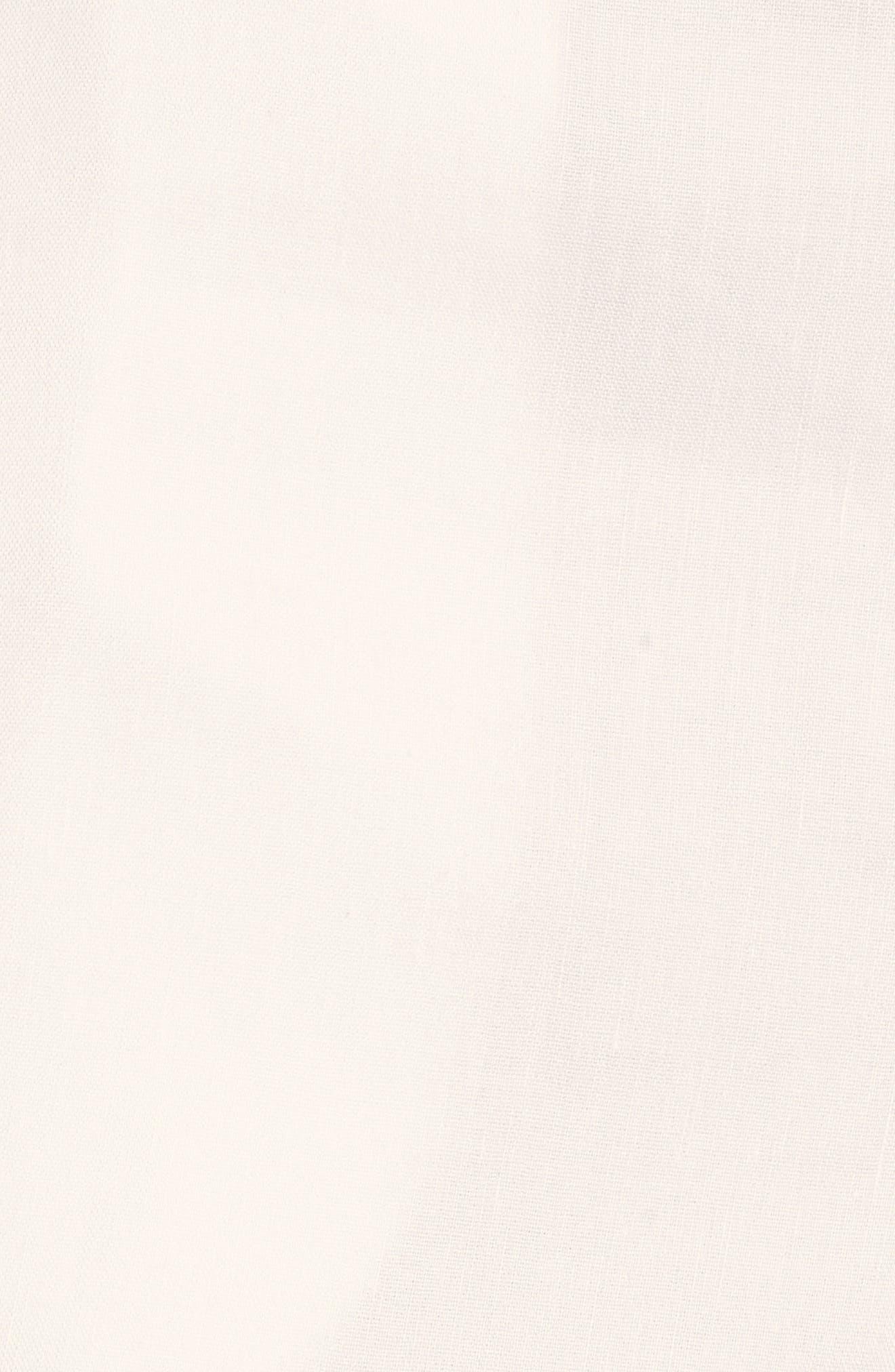 High Waist Linen Blend Shorts,                             Alternate thumbnail 25, color,
