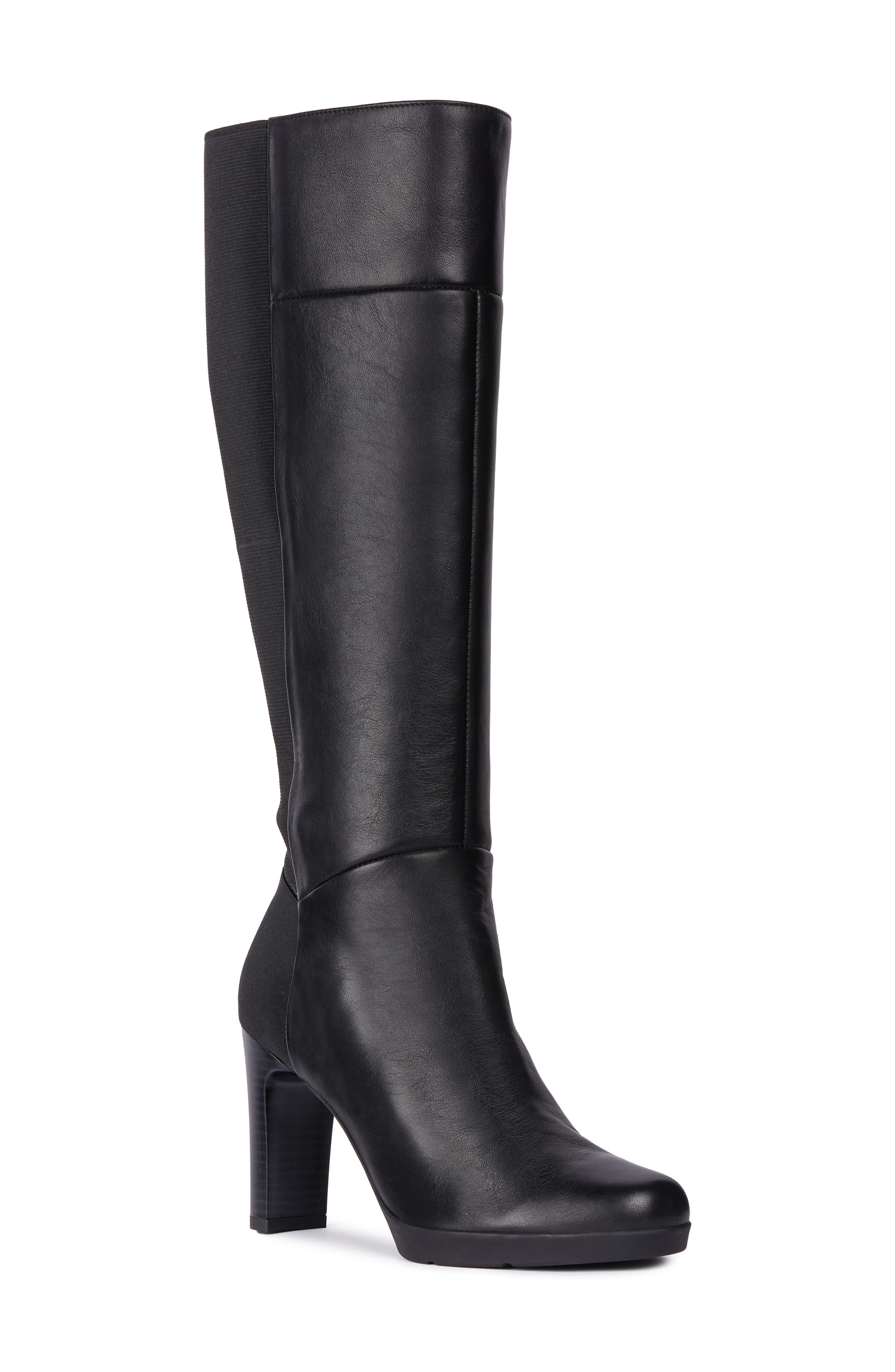 Geox Annya Knee High Boot - Black