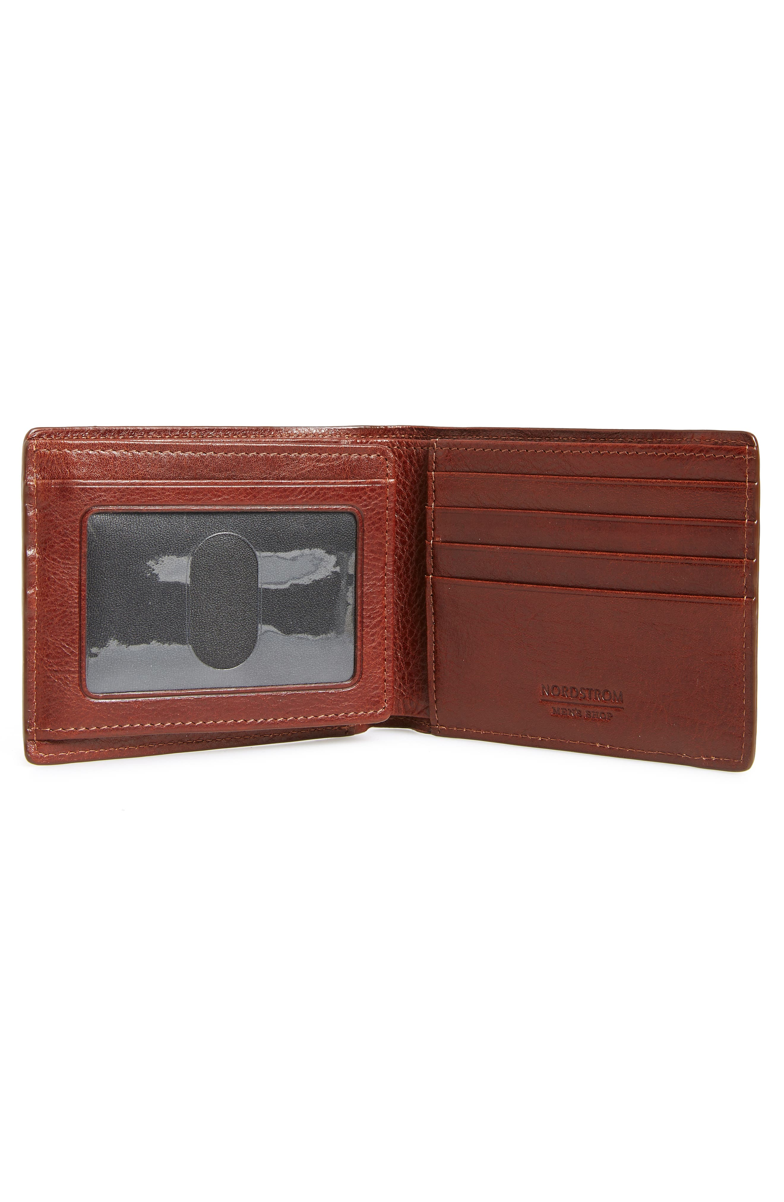 NORDSTROM MEN'S SHOP,                             Richmond Leather Wallet,                             Alternate thumbnail 2, color,                             BROWN HENNA