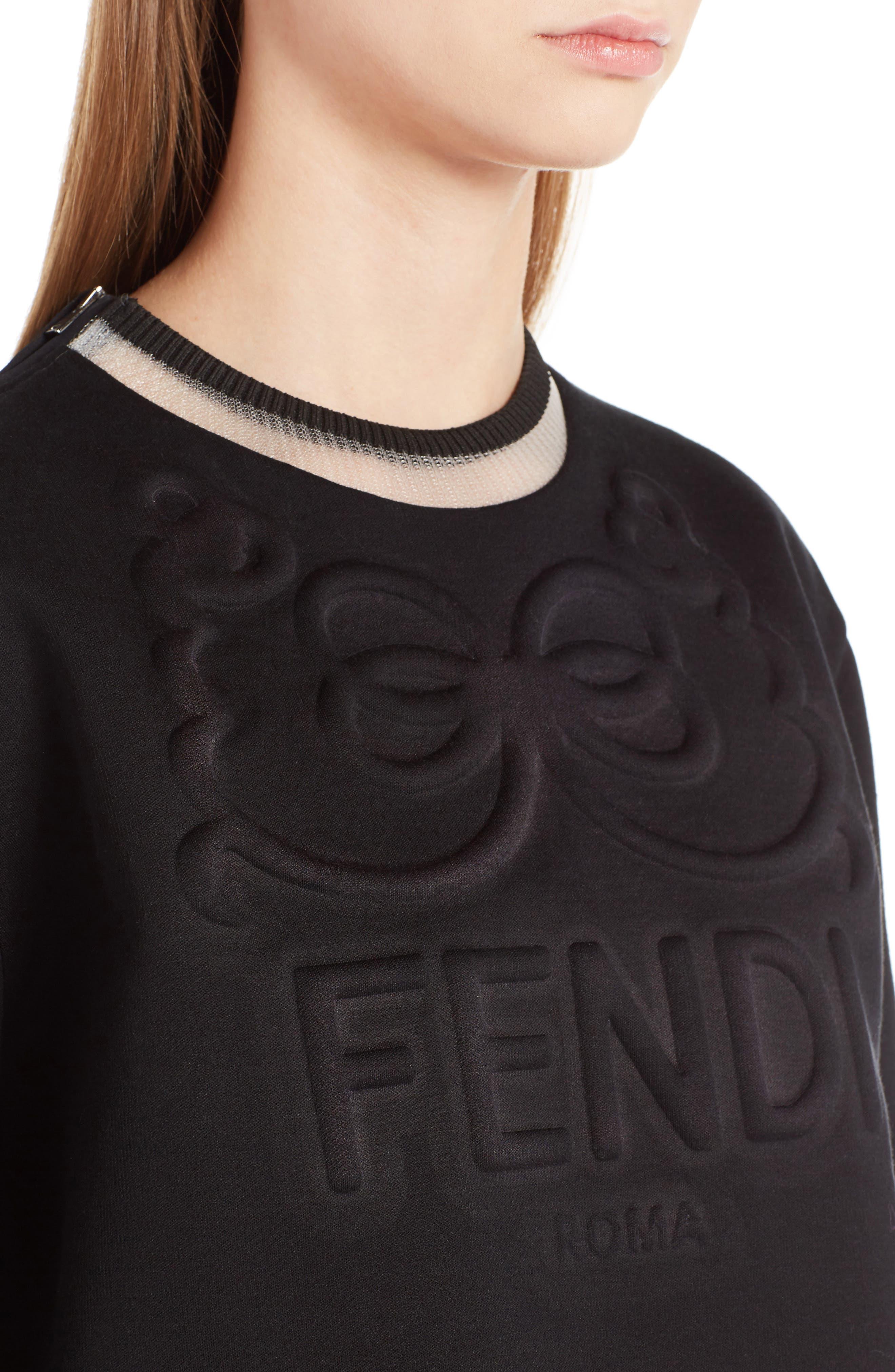 Logo Jersey Sweatshirt,                             Alternate thumbnail 4, color,                             001