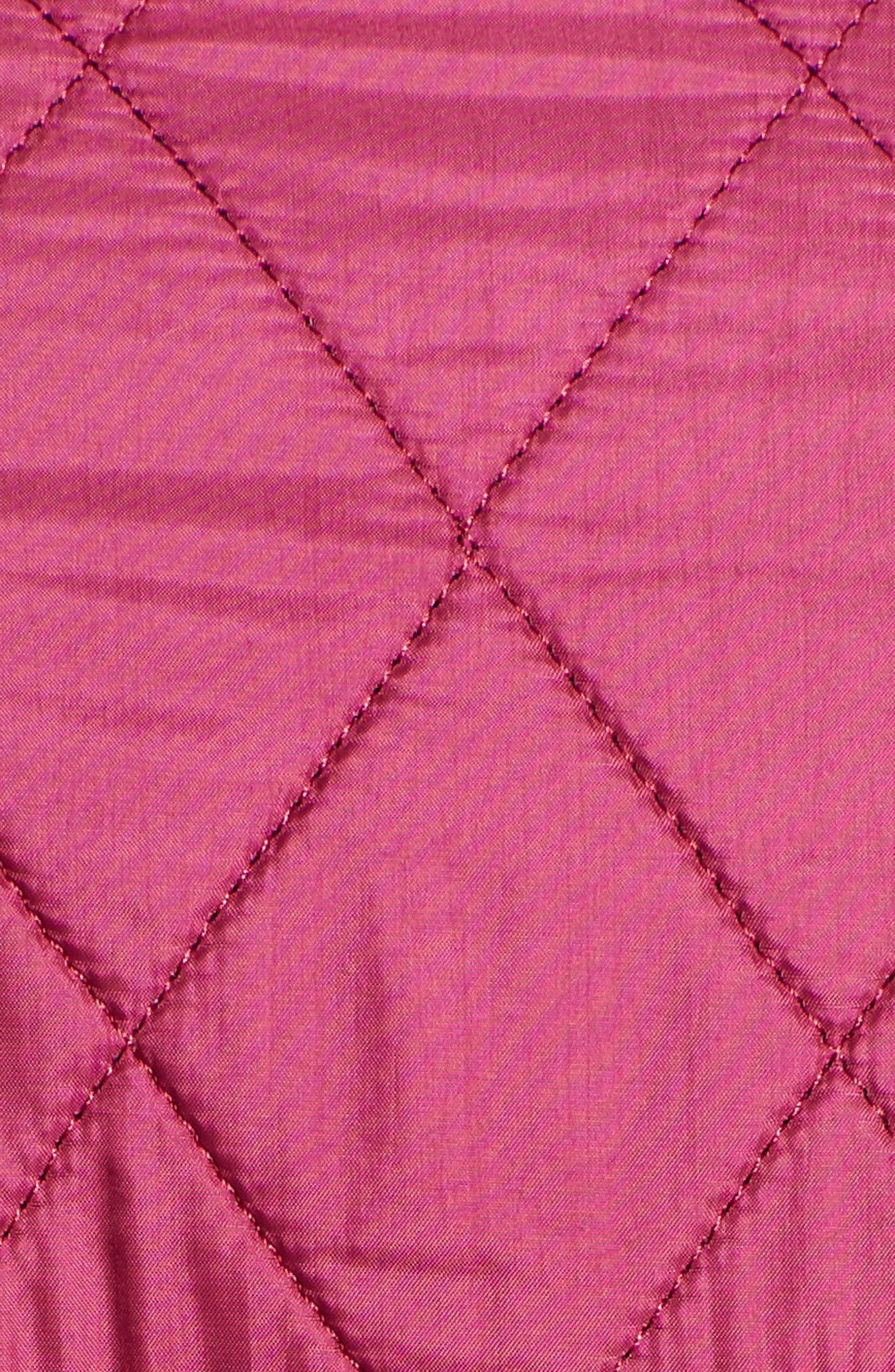 'Cavalry' Quilted Jacket,                             Alternate thumbnail 6, color,                             BERRY PINK / NAVY