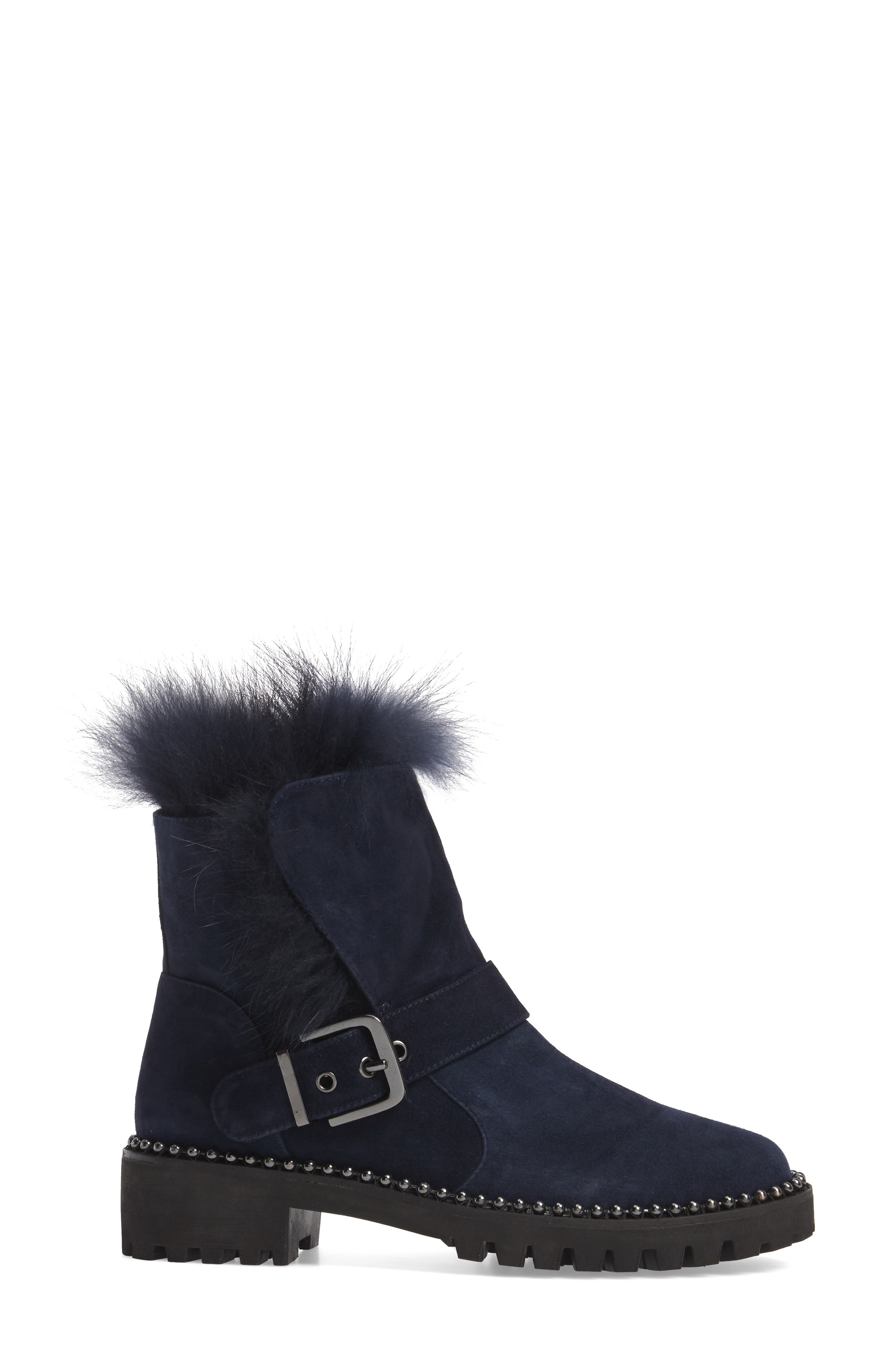 Theresa Boot with Genuine Fox Fur Trim,                             Alternate thumbnail 6, color,