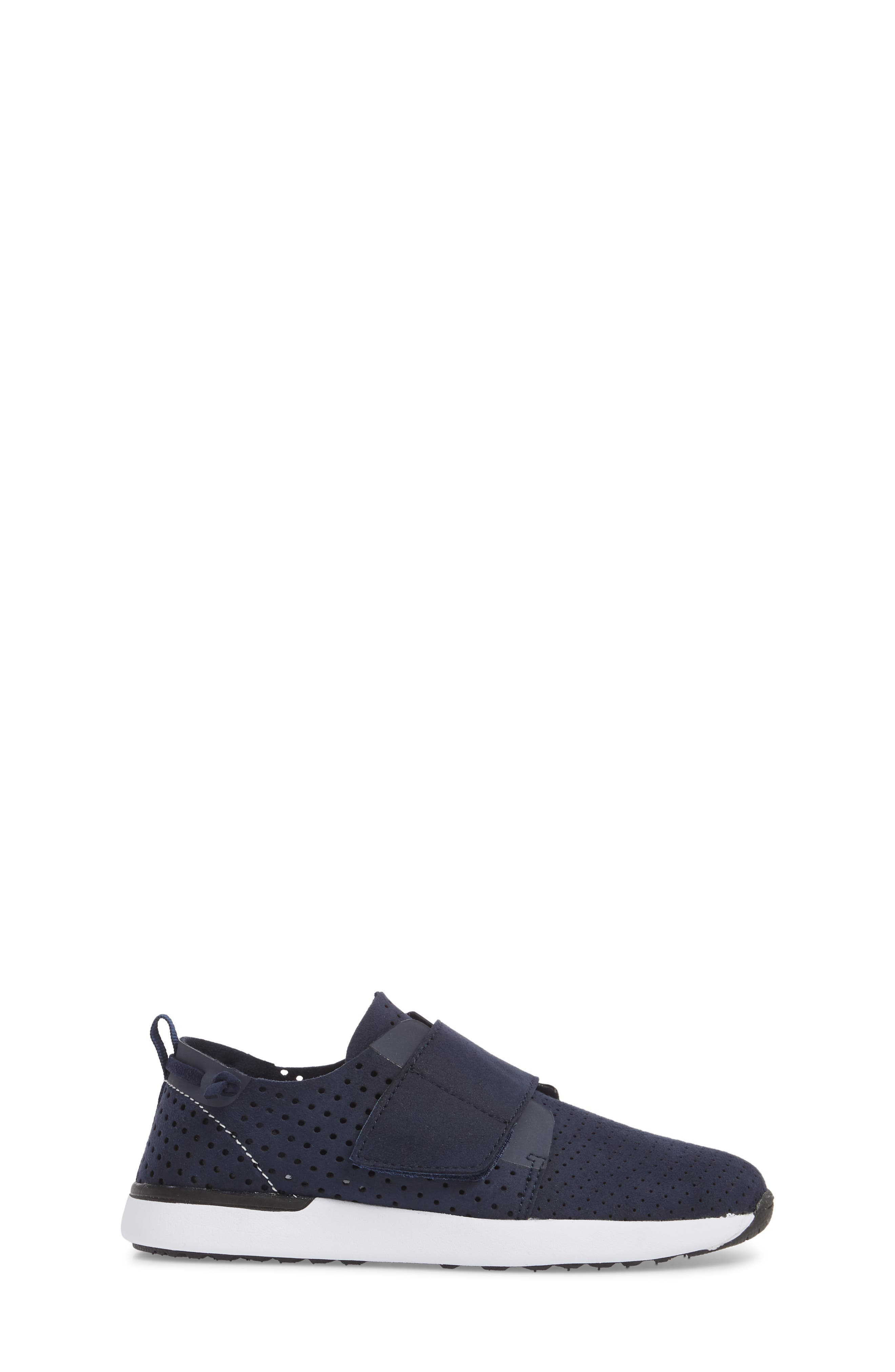 Brixxnv Perforated Sneaker,                             Alternate thumbnail 3, color,                             NAVY