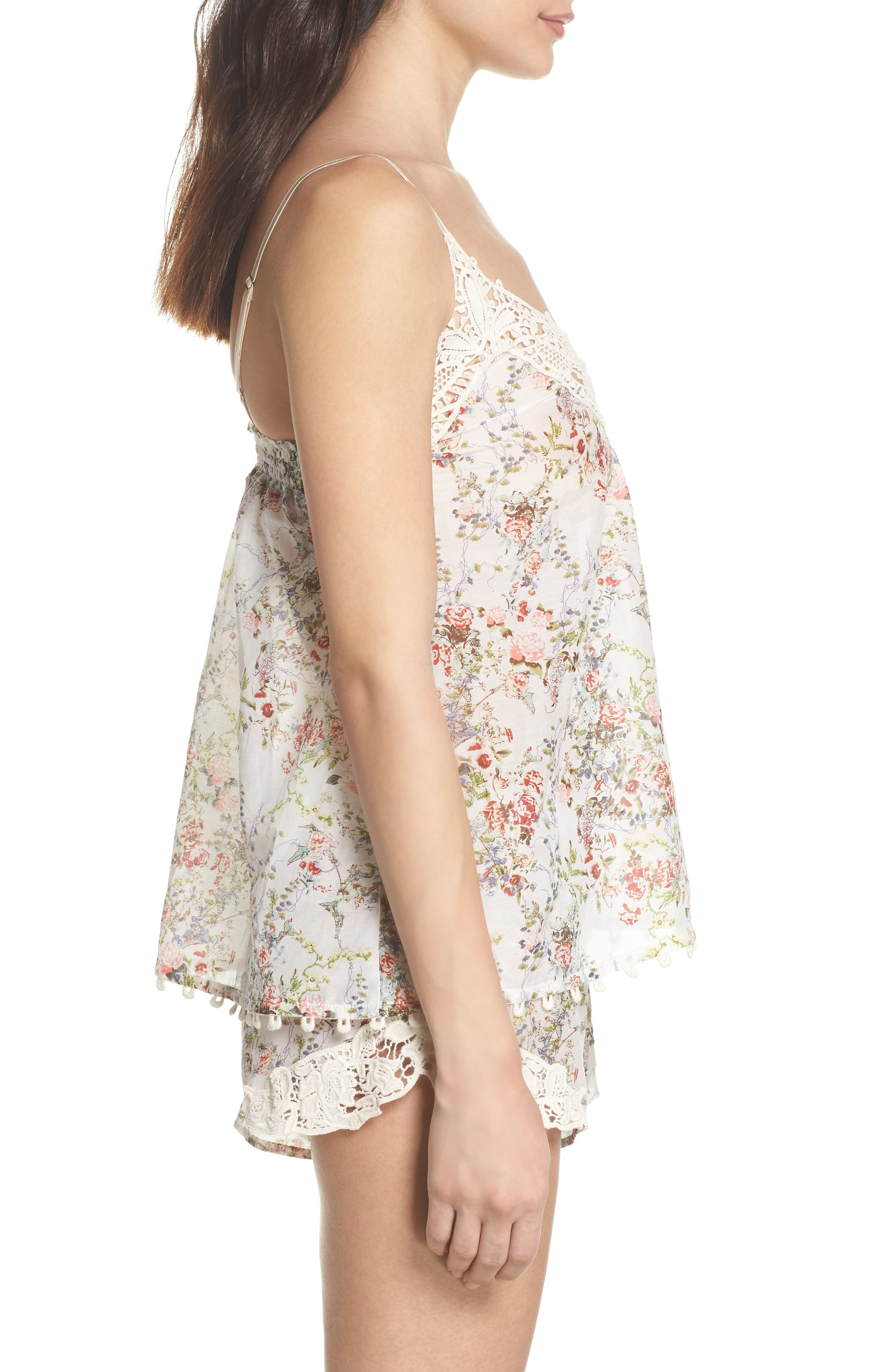 Yolly Camisole,                             Alternate thumbnail 3, color,                             IVORY FLORAL