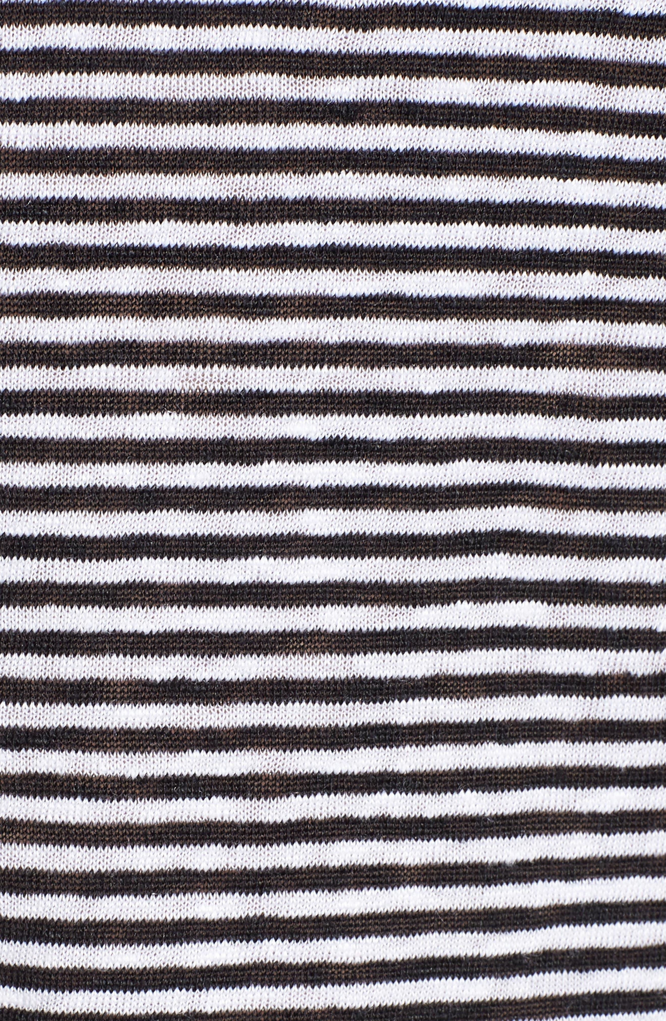 Stripe Organic Linen Tank,                             Alternate thumbnail 5, color,                             018