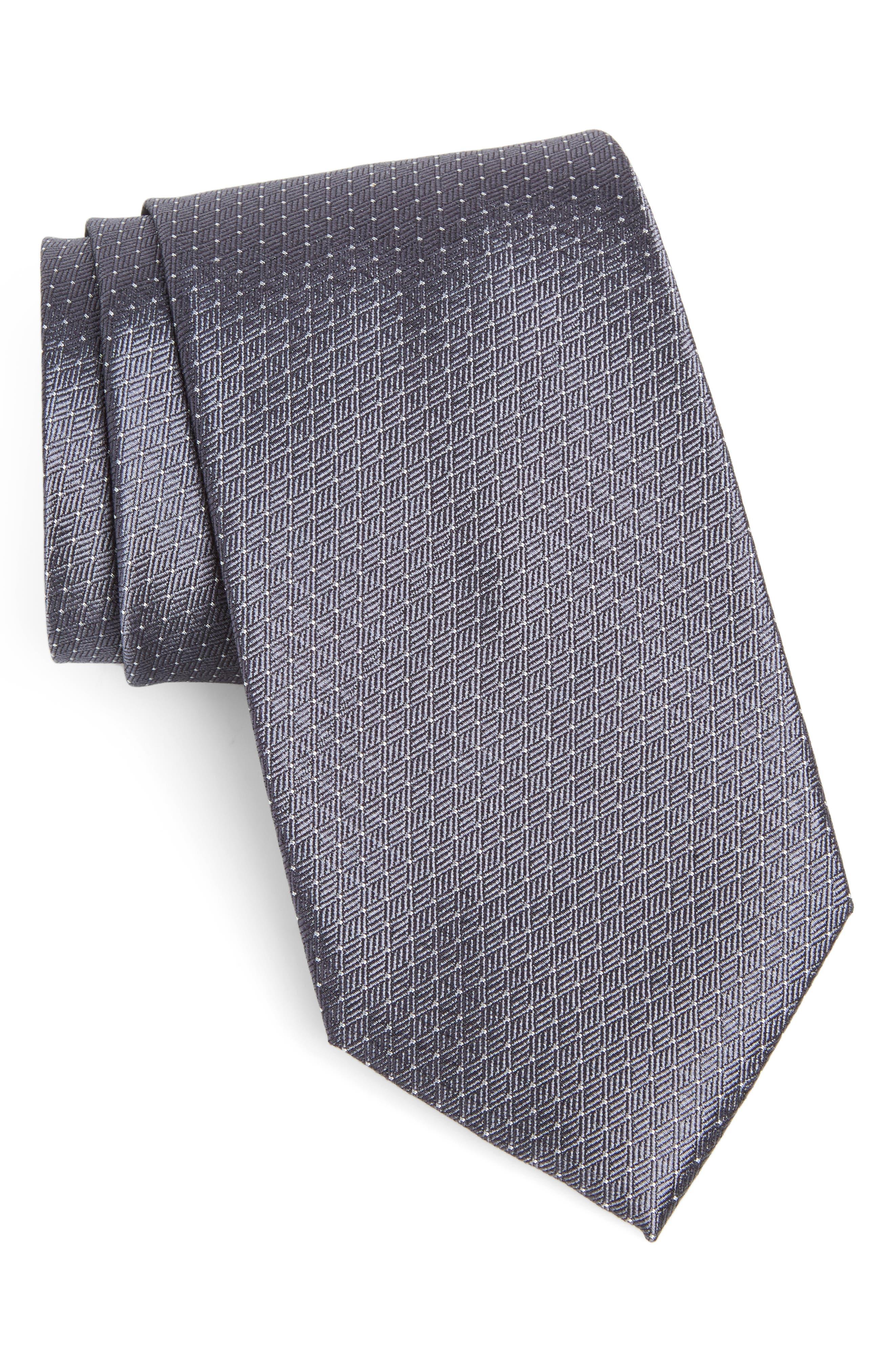 Dot Silk Tie,                             Main thumbnail 1, color,                             020