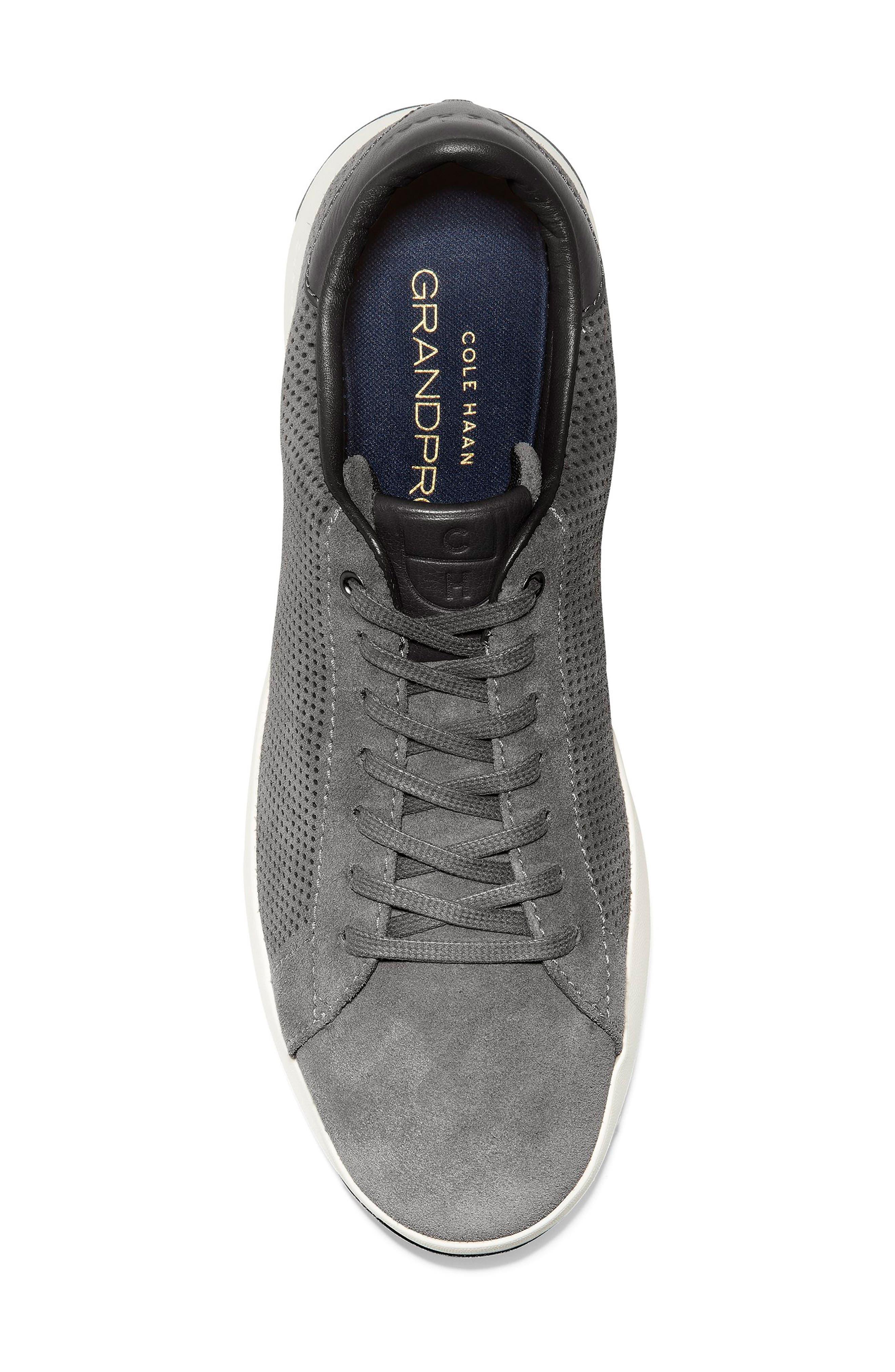GrandPro Tennis Sneaker,                             Alternate thumbnail 5, color,                             GREY SUEDE