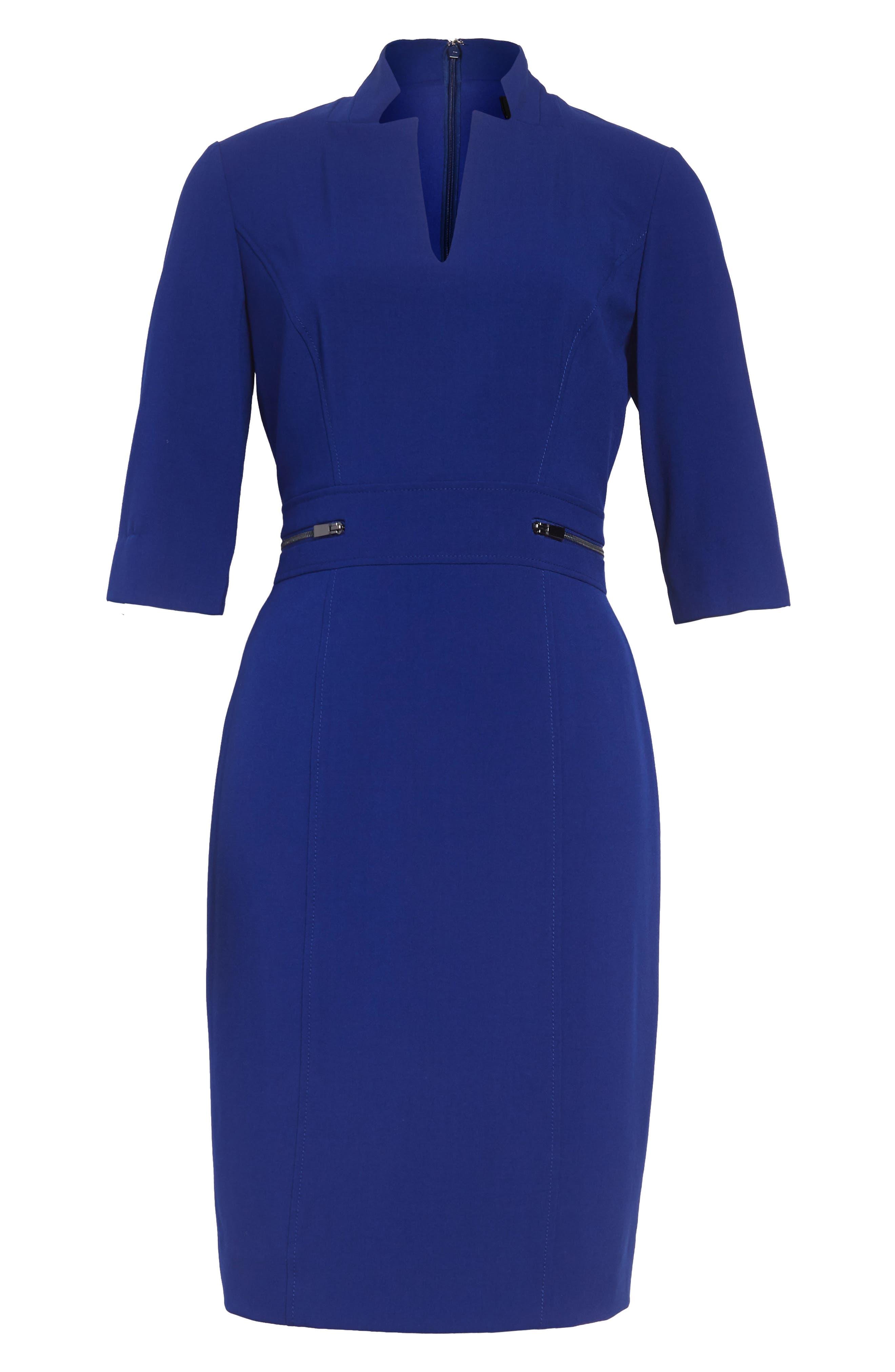 Sheath Dress,                             Alternate thumbnail 3, color,                             COBALT