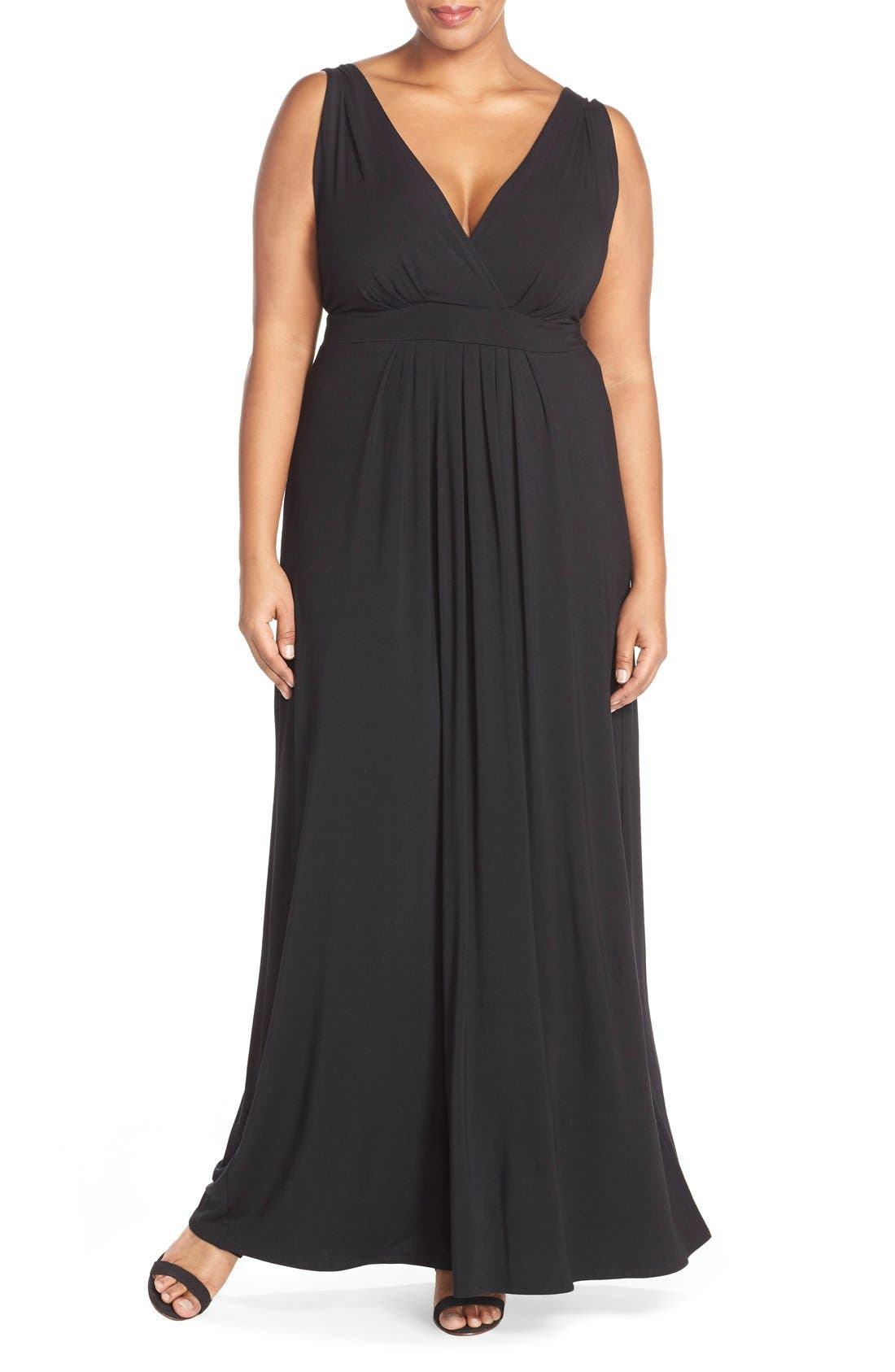 Chloe Empire Waist Maxi Dress,                             Main thumbnail 1, color,                             001