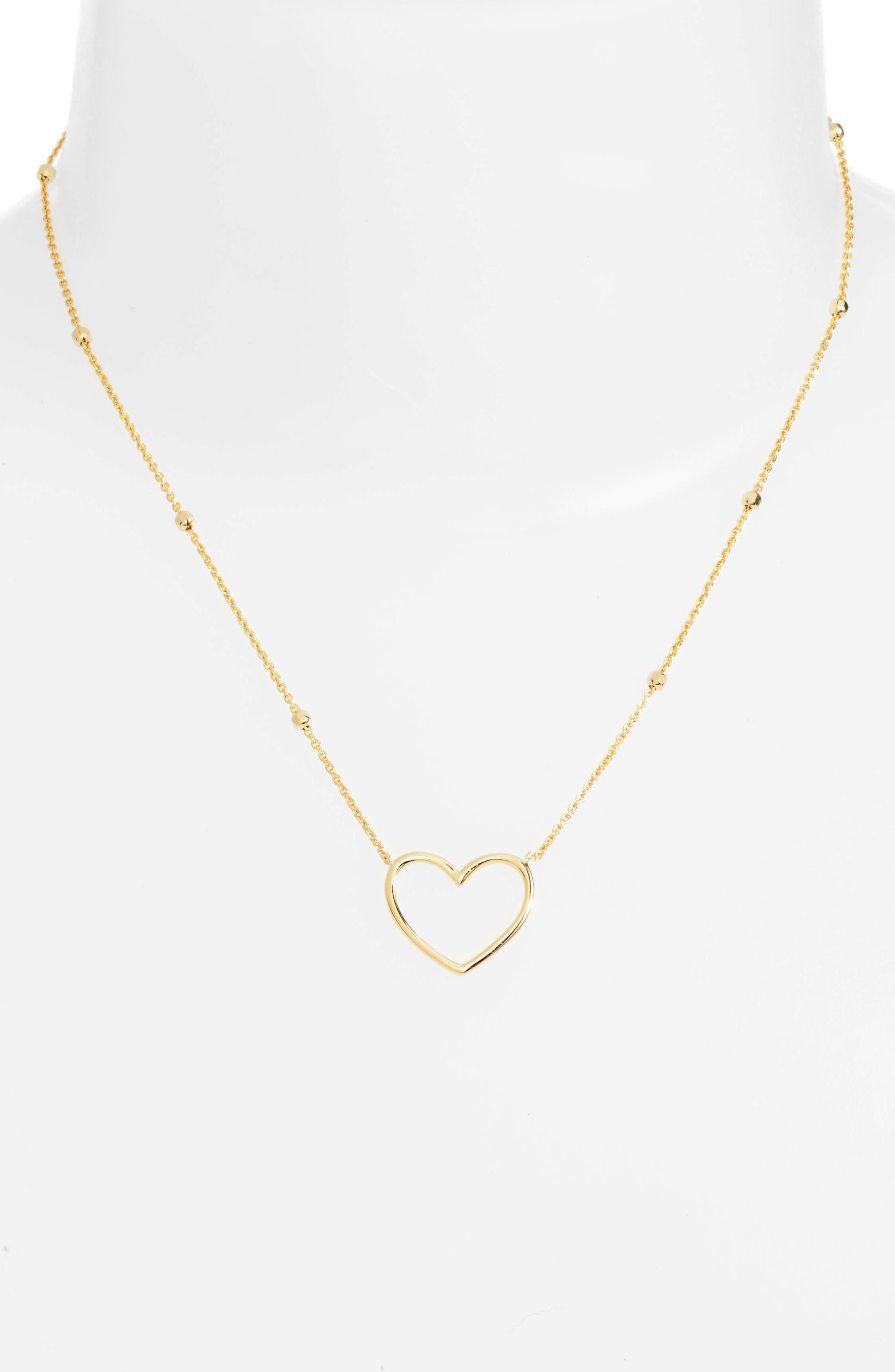 Heart Pendant Necklace,                             Alternate thumbnail 6, color,