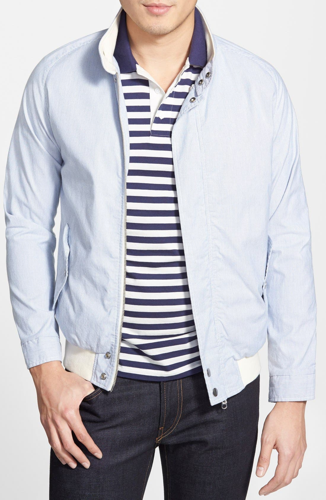 Pinstripe Barracuda Jacket, Main, color, 451