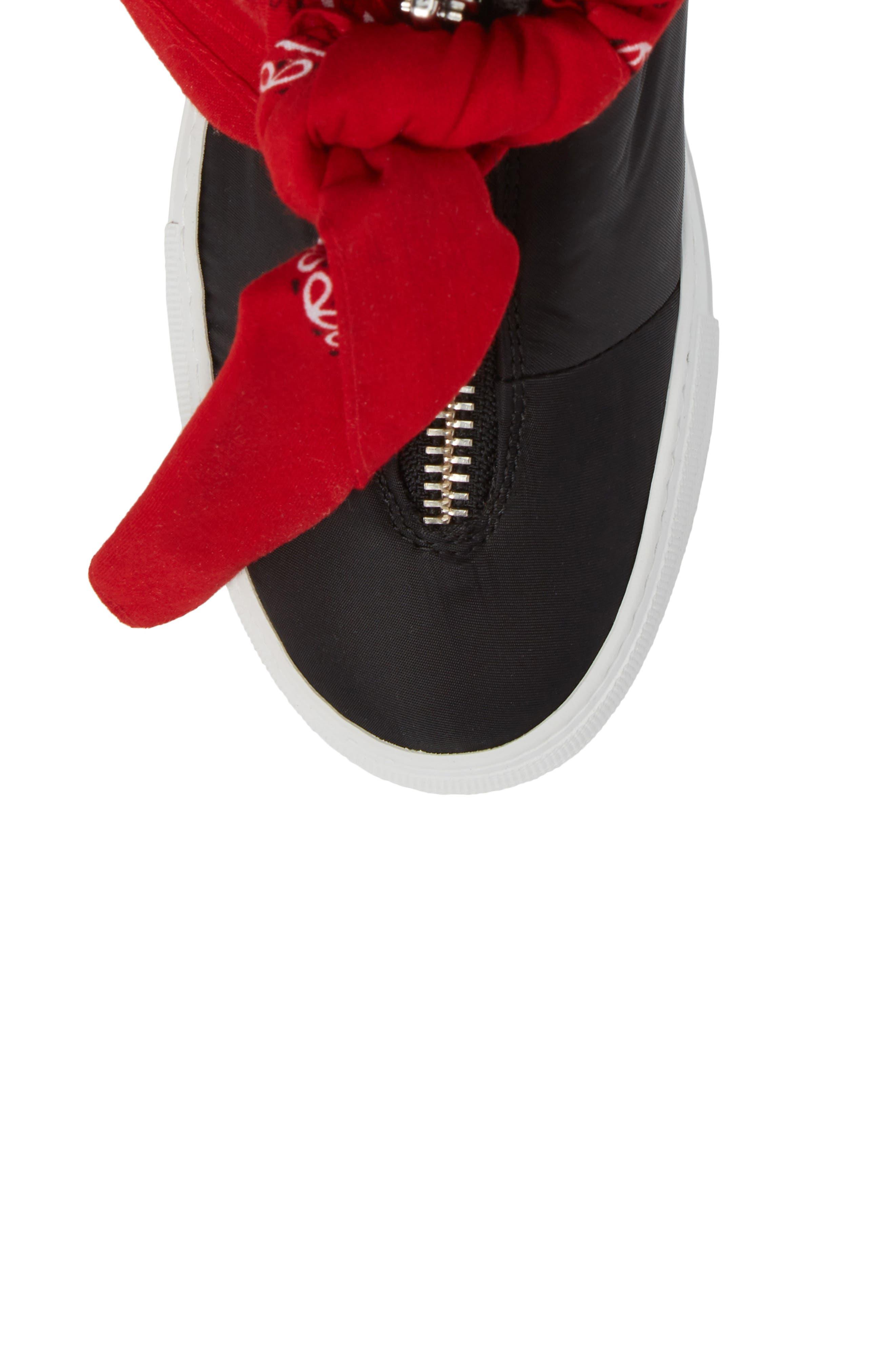 Bandana High Top Sneaker,                             Alternate thumbnail 5, color,                             001