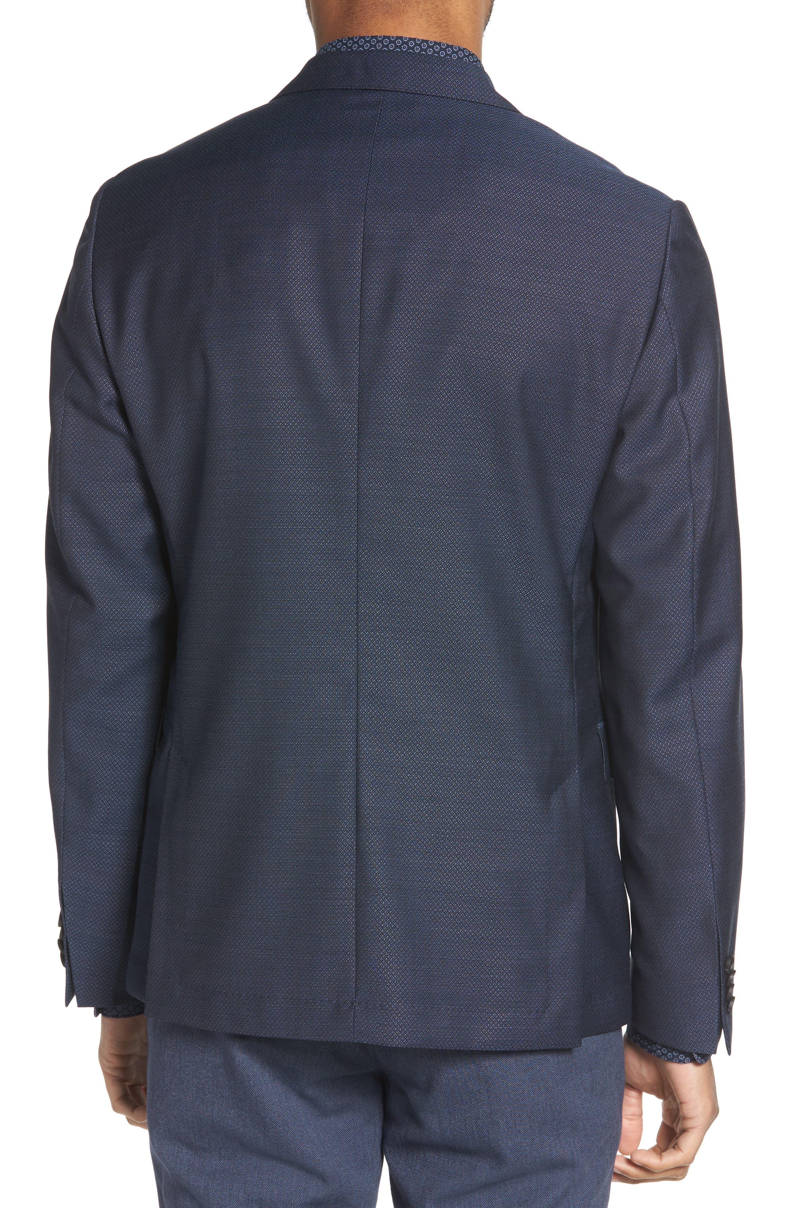 Nobis Trim Fit Wool Blazer,                             Alternate thumbnail 2, color,                             BLUE