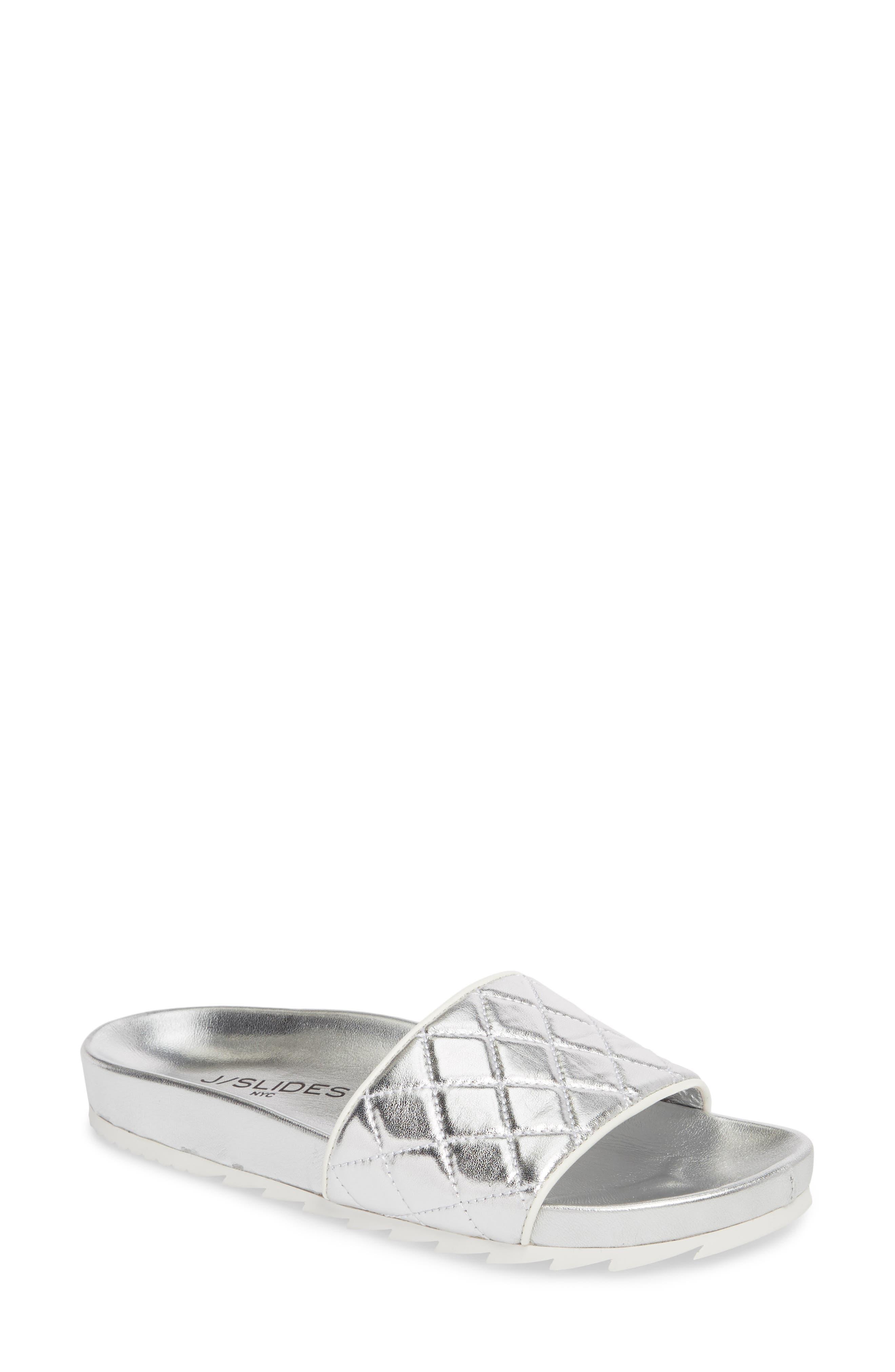 Jslides Edge Slide Sandal, Metallic