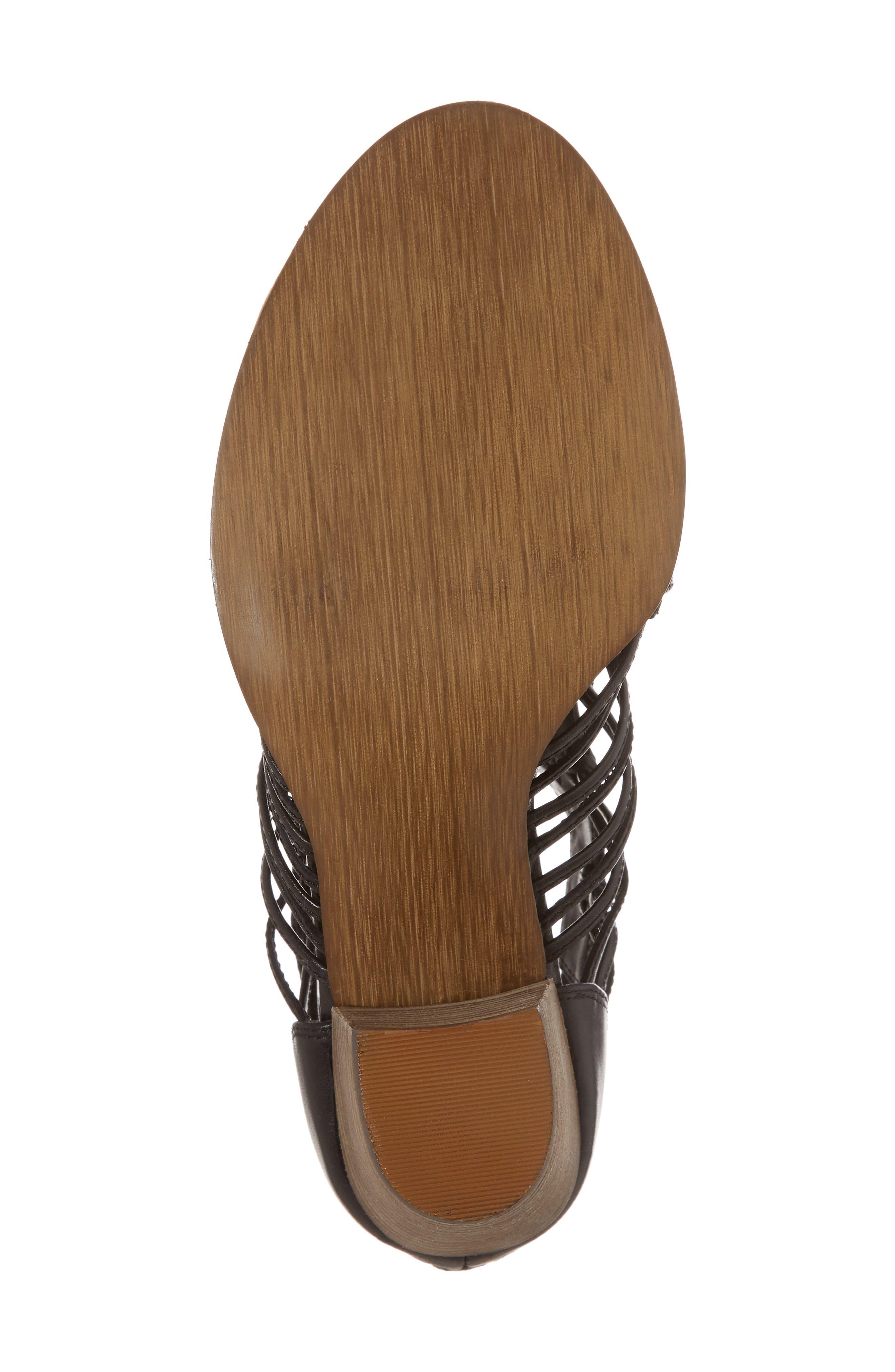 Kortez Block Heel Sandal,                             Alternate thumbnail 6, color,                             BLACK LEATHER