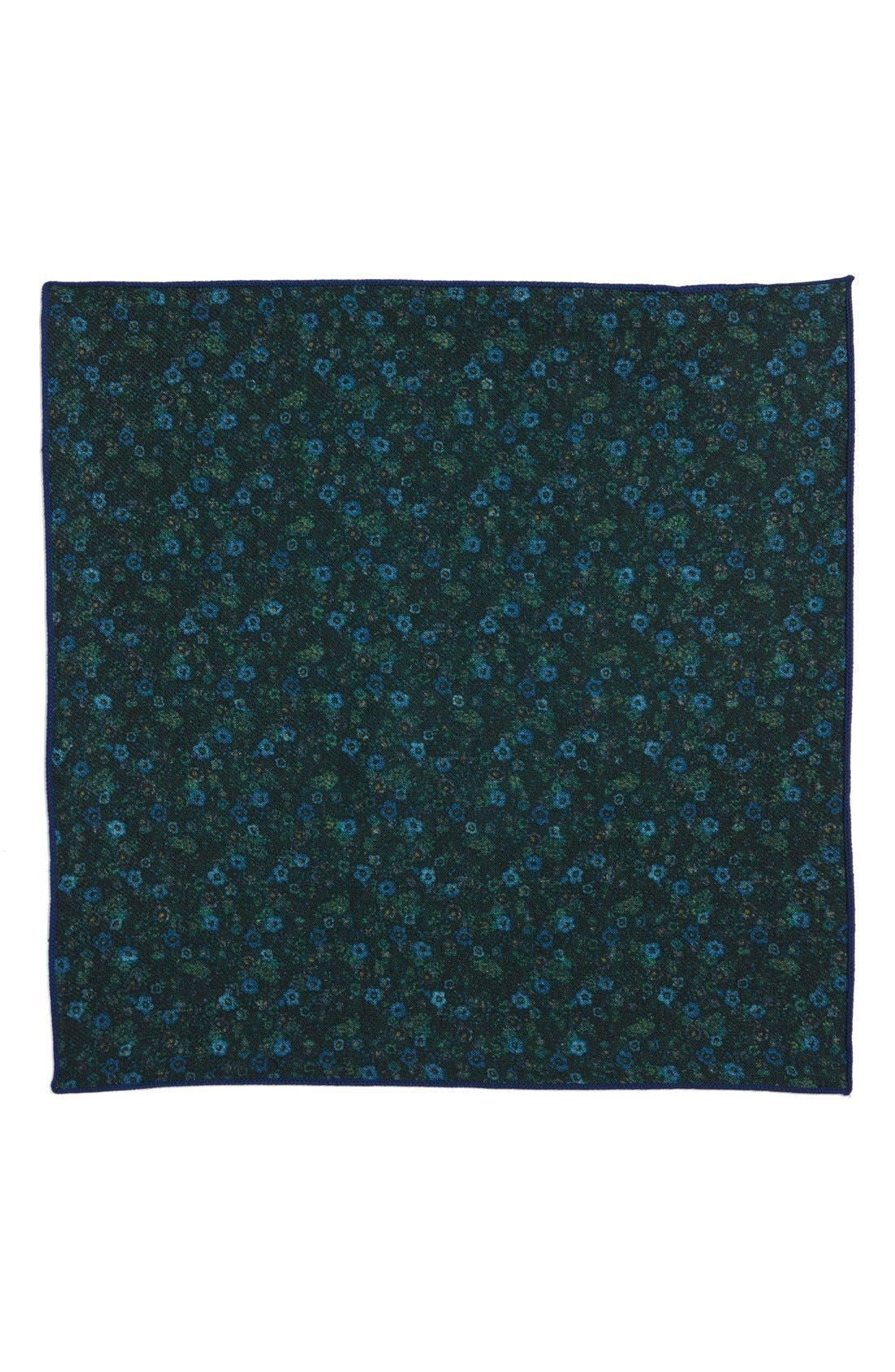 Floral Wool Pocket Square,                             Alternate thumbnail 4, color,                             300