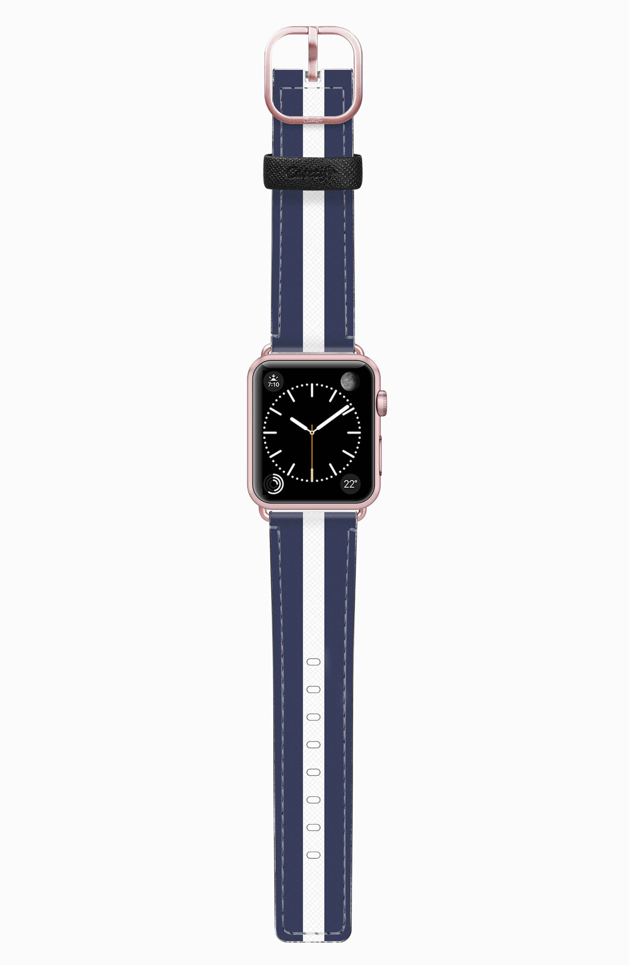 Saffiano Faux Leather Apple Watch Strap,                             Main thumbnail 6, color,