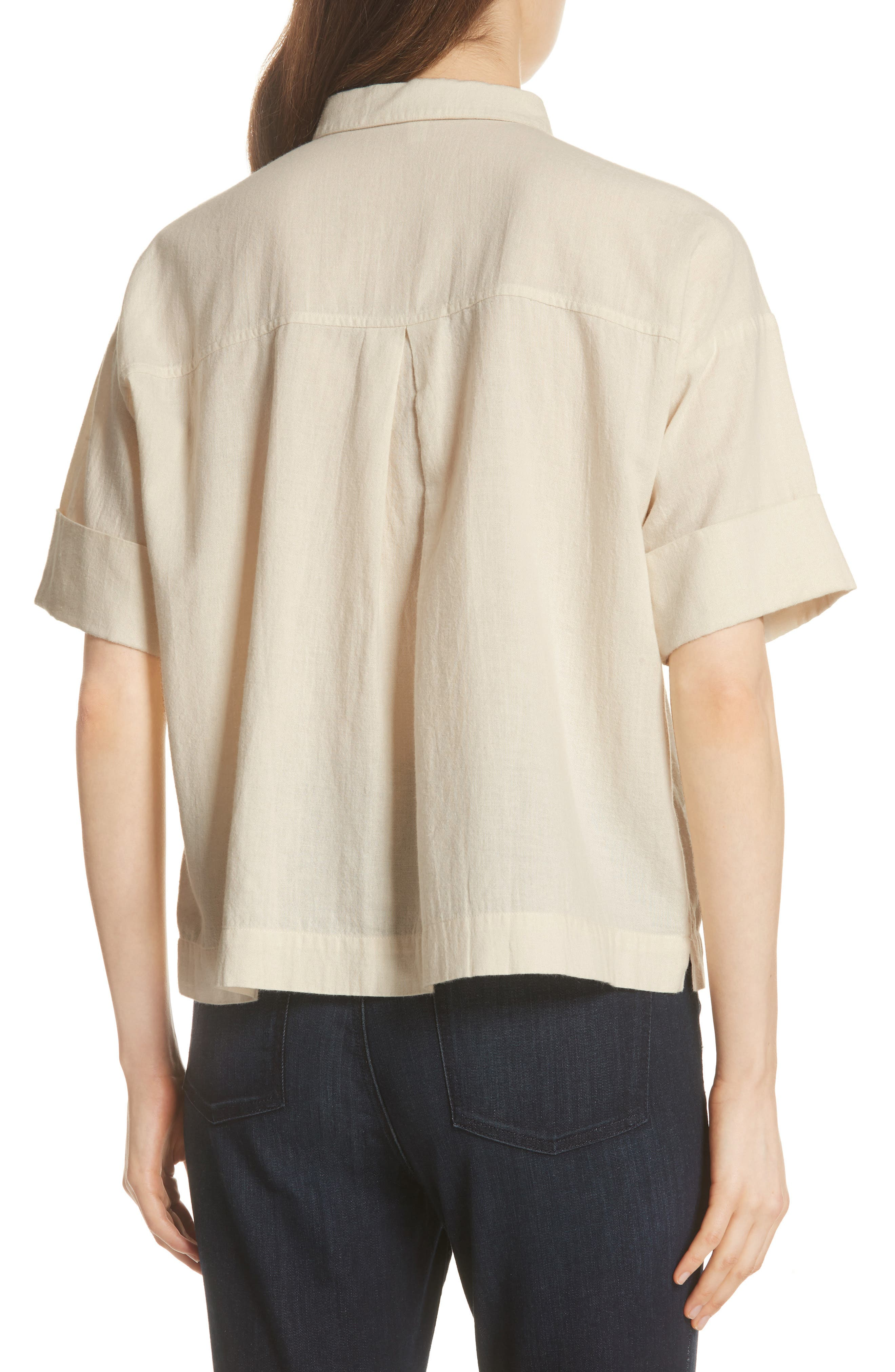 Classic Boxy Shirt,                             Alternate thumbnail 3, color,