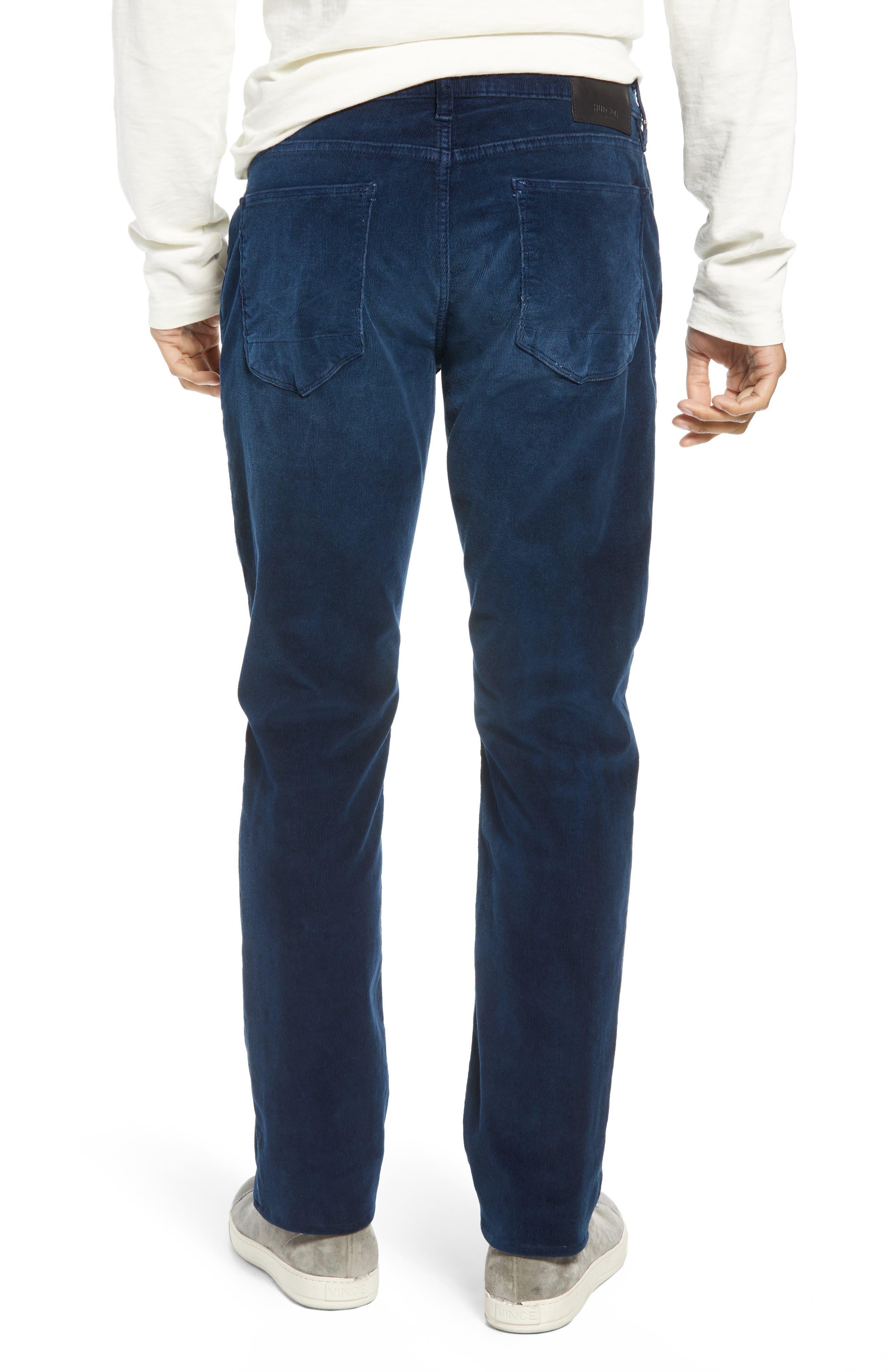 Blake Slim Fit Straight Leg Corduroy Pants,                             Alternate thumbnail 2, color,                             BLACK