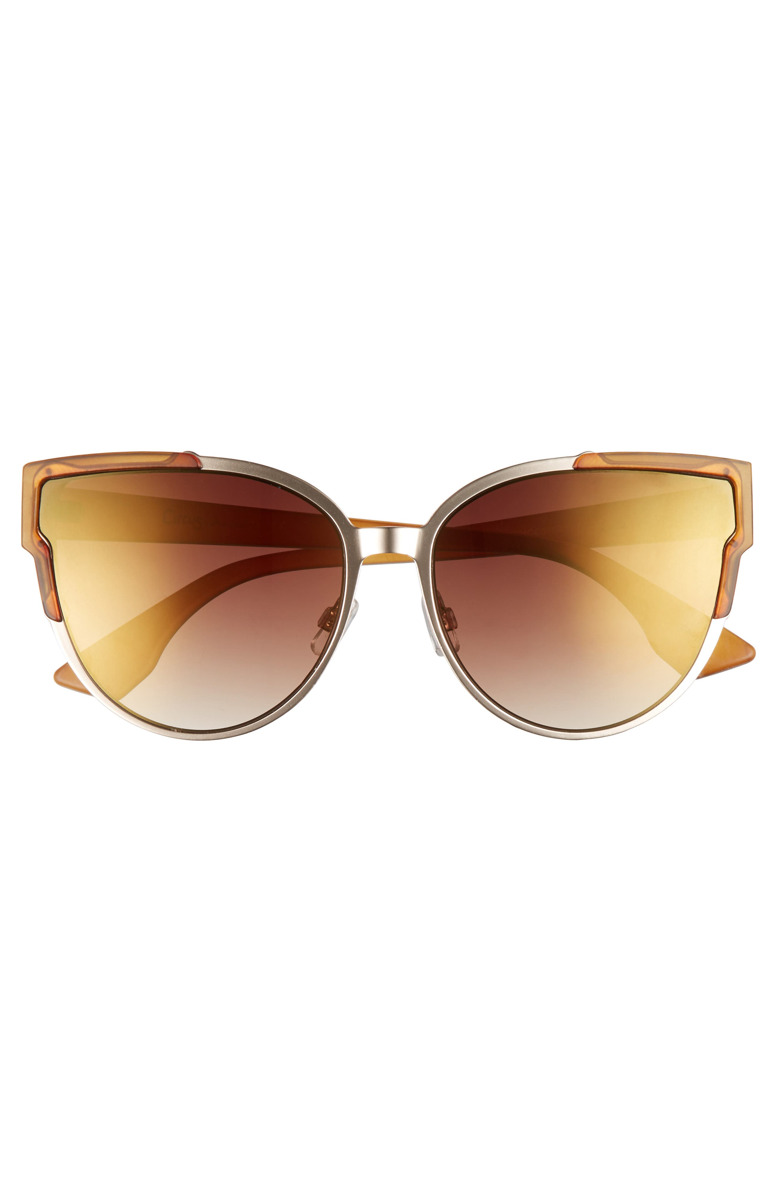 56mm Combo Cat Eye Sunglasses,                             Alternate thumbnail 10, color,