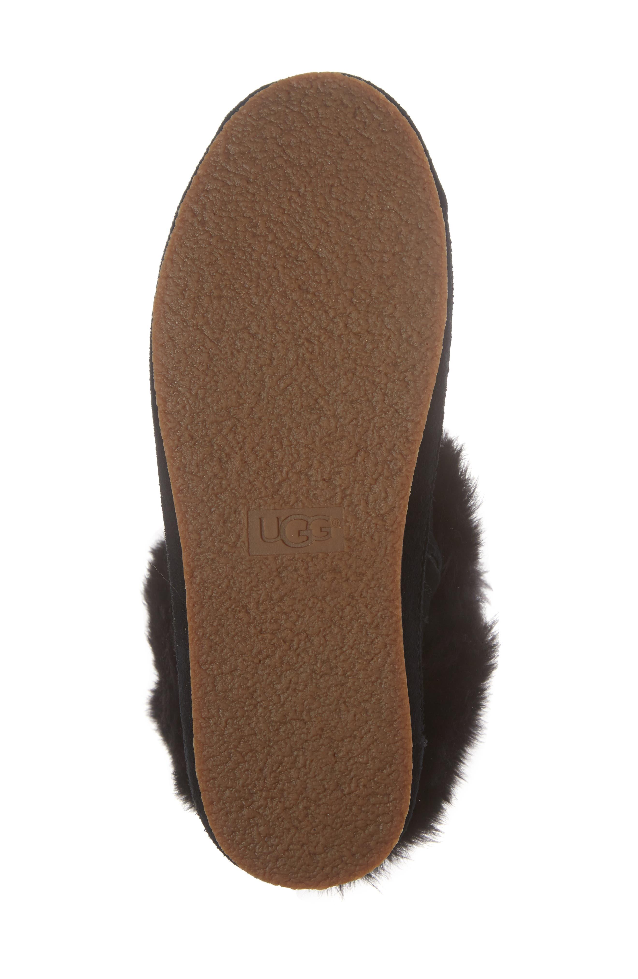 Antoine Fur Cuff Sneaker,                             Alternate thumbnail 6, color,                             001