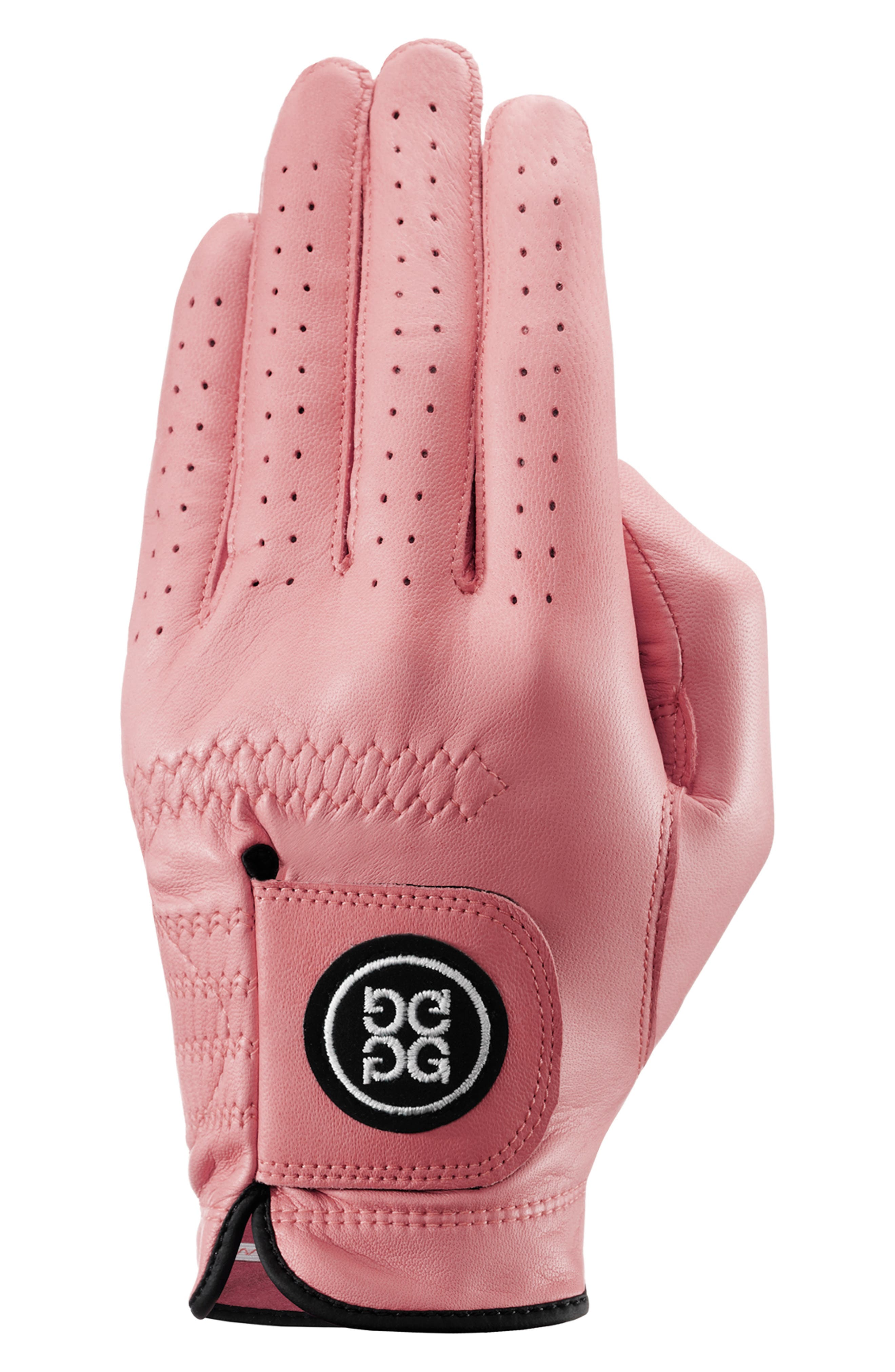 G/fore The Collection Leather Golf Glove, Pink