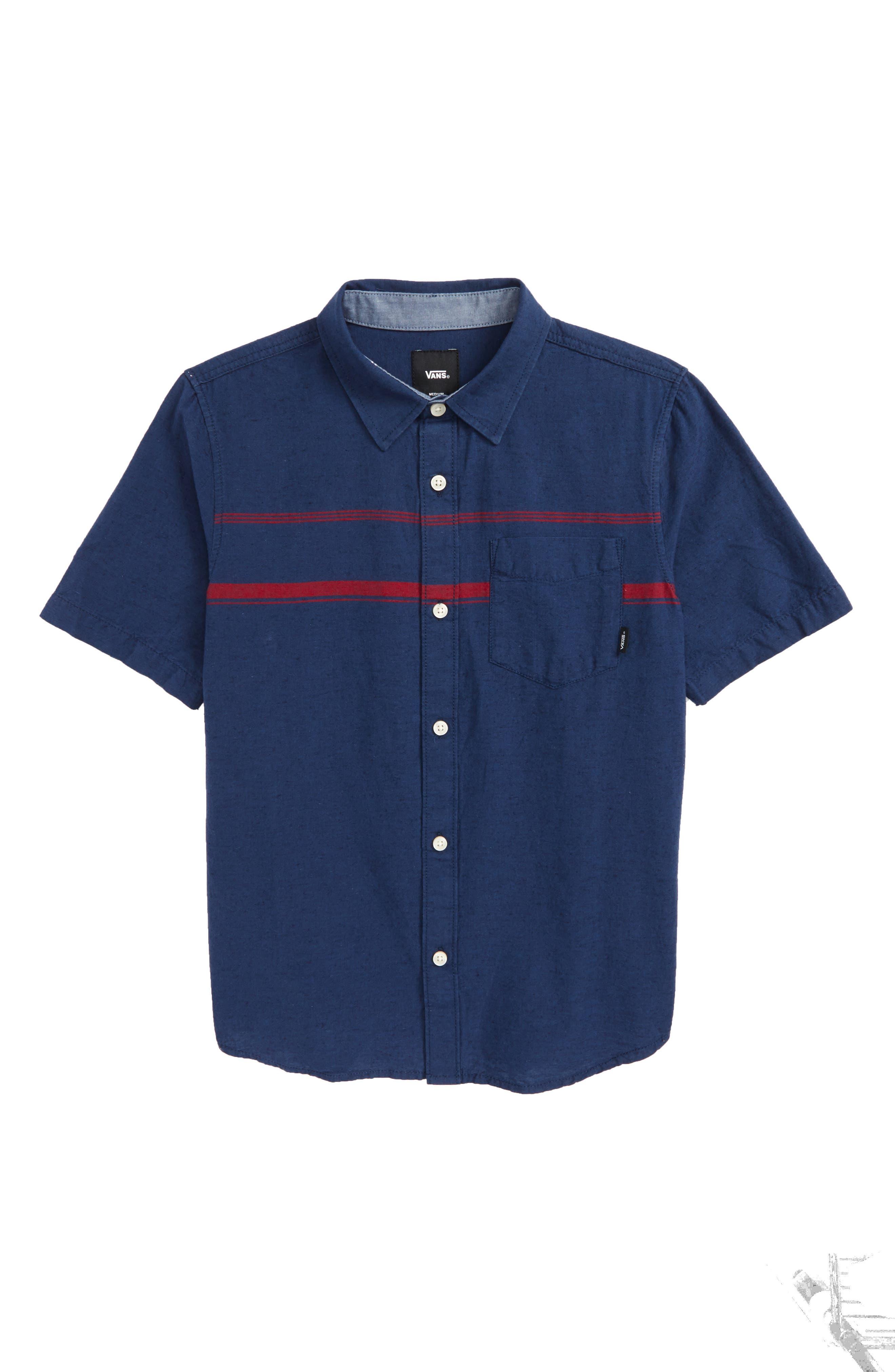 Thurber Boys Woven Shirt,                         Main,                         color, 401
