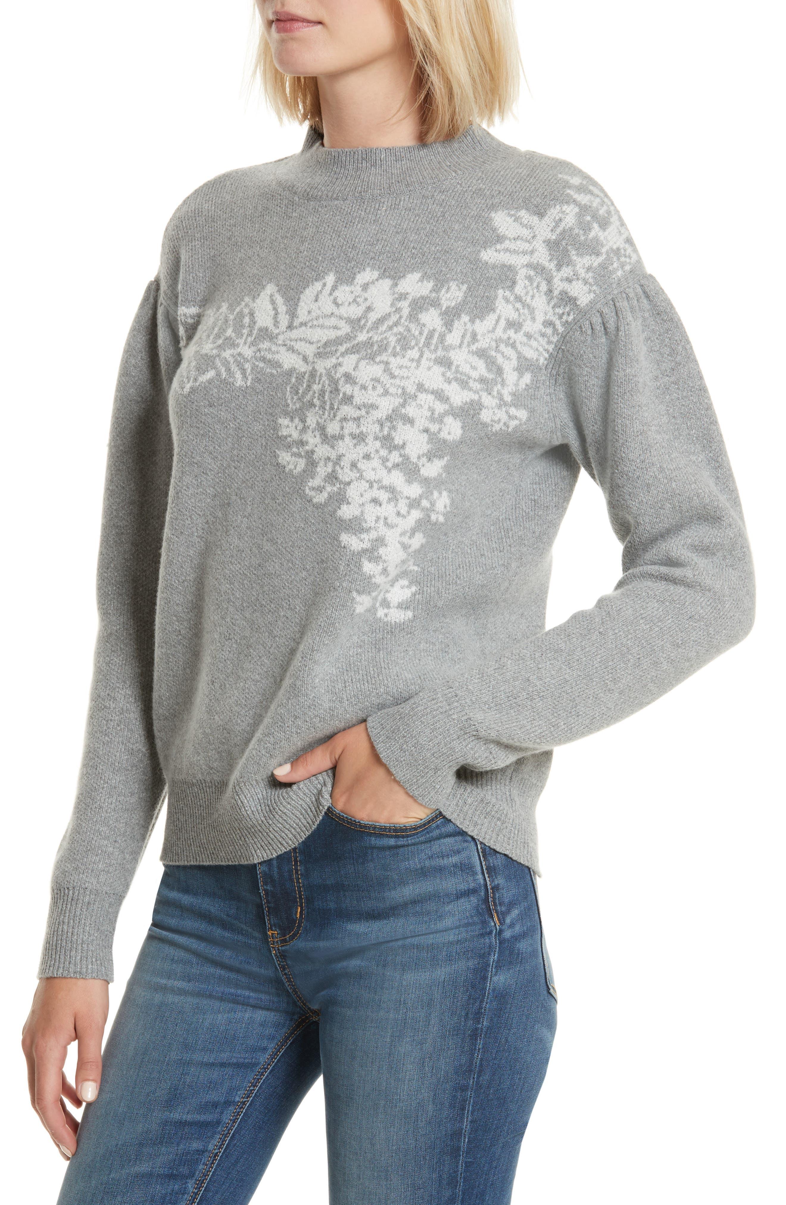 Jacquard Floral Pullover,                             Alternate thumbnail 4, color,                             038