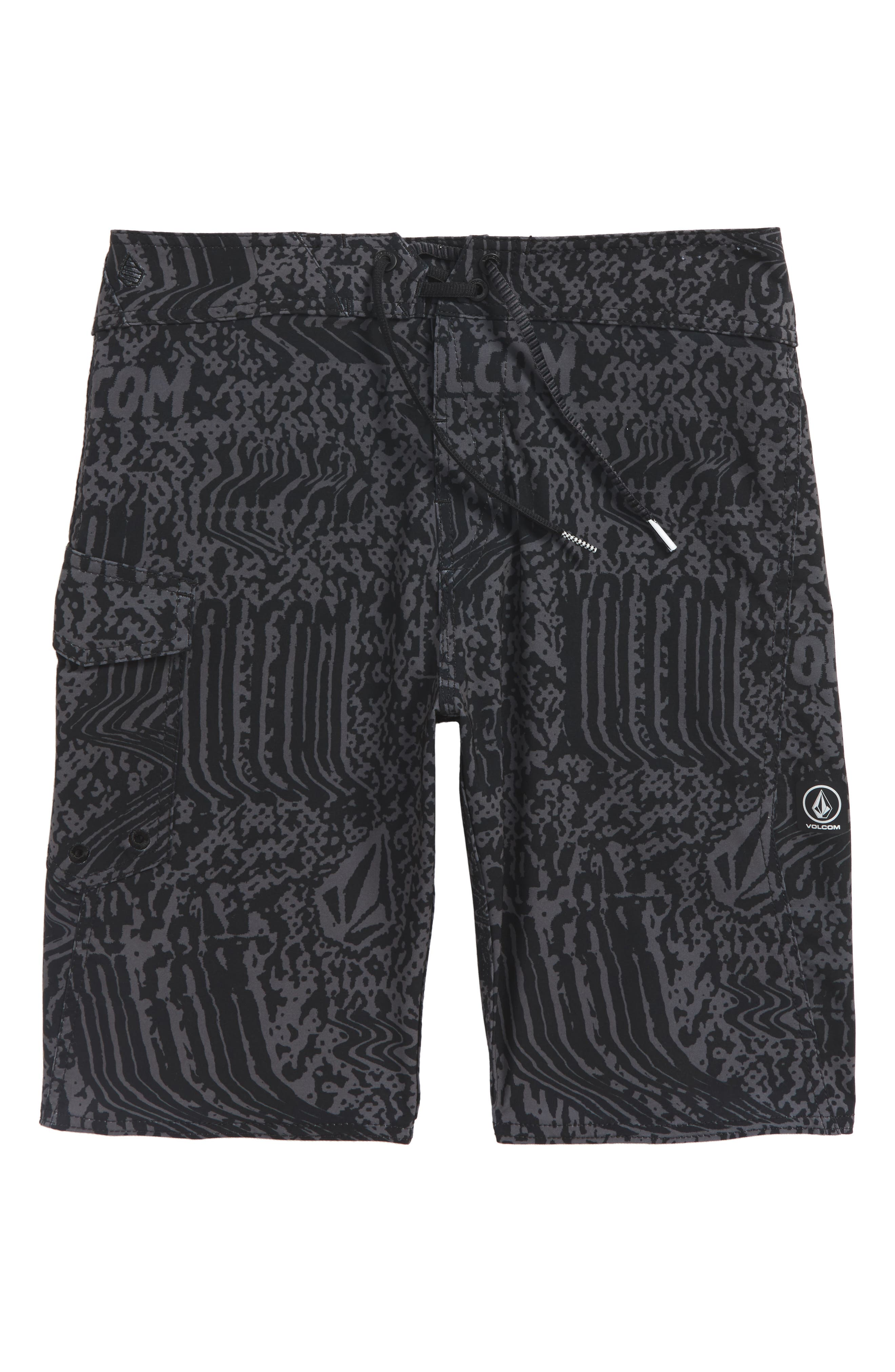 Logo Plasm Mod Board Shorts,                         Main,                         color, ASPHALT BLACK