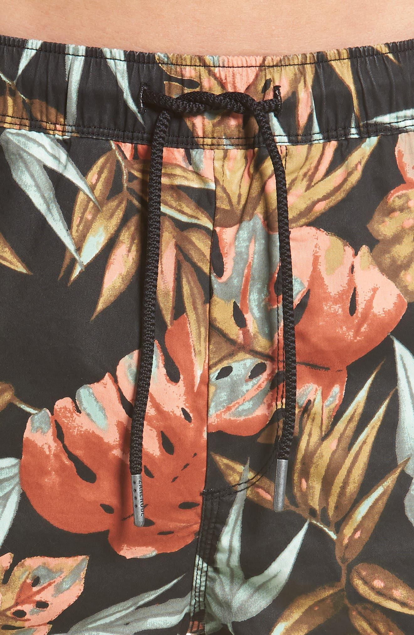 Forage Laguna Swim Trunks,                             Alternate thumbnail 4, color,                             WASHED BLACK