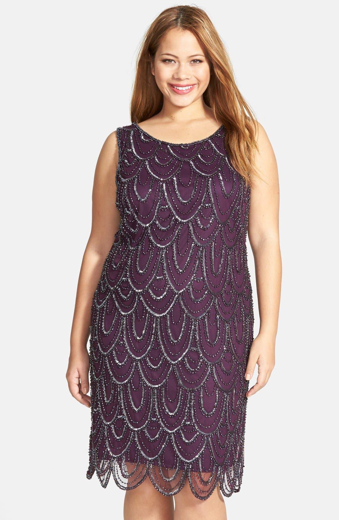 Beaded Sheath Dress,                             Main thumbnail 2, color,