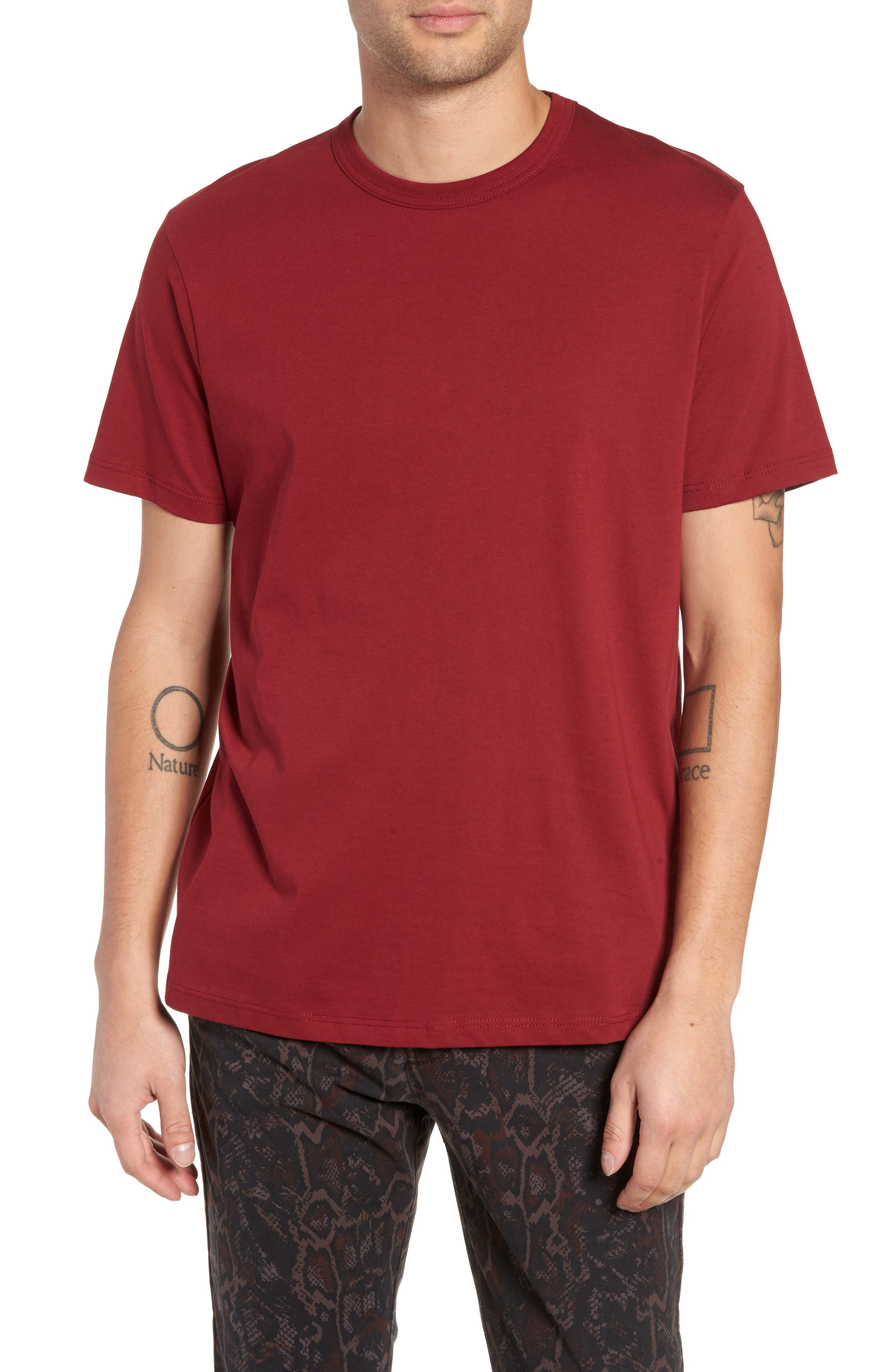 Bound Classic Crew T-Shirt,                             Main thumbnail 1, color,                             RED