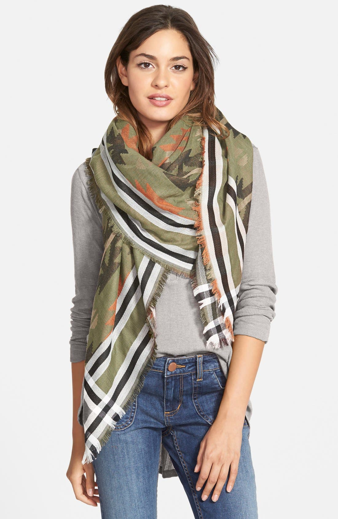 Southwestern Scarf,                         Main,                         color, 300