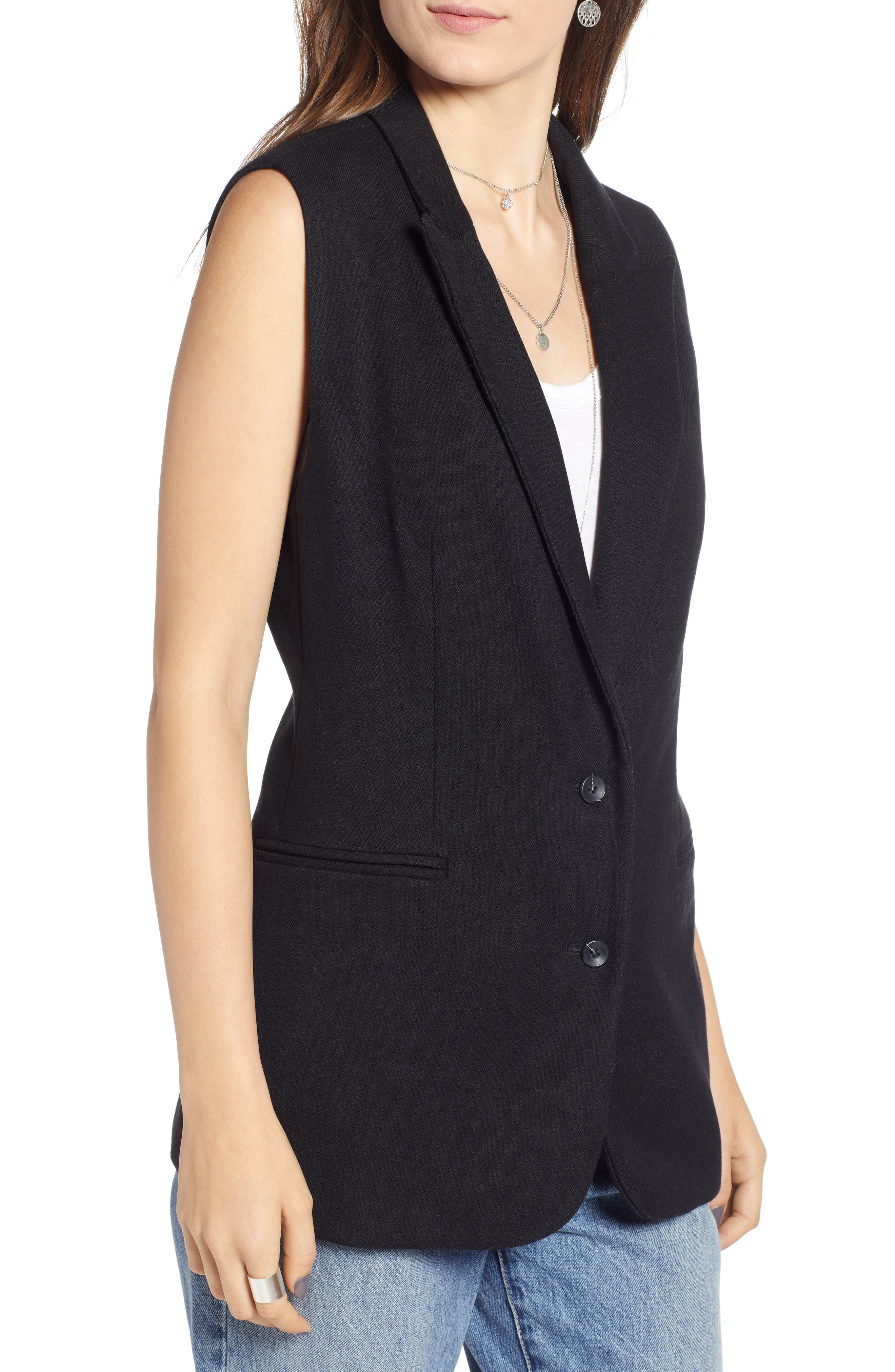 Menswear Vest,                             Alternate thumbnail 4, color,                             BLACK