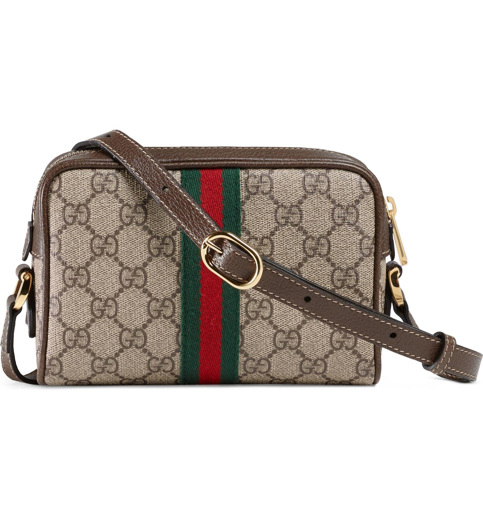 9baa8ffe61 Gucci Ophidia Small GG Supreme Canvas Crossbody Bag