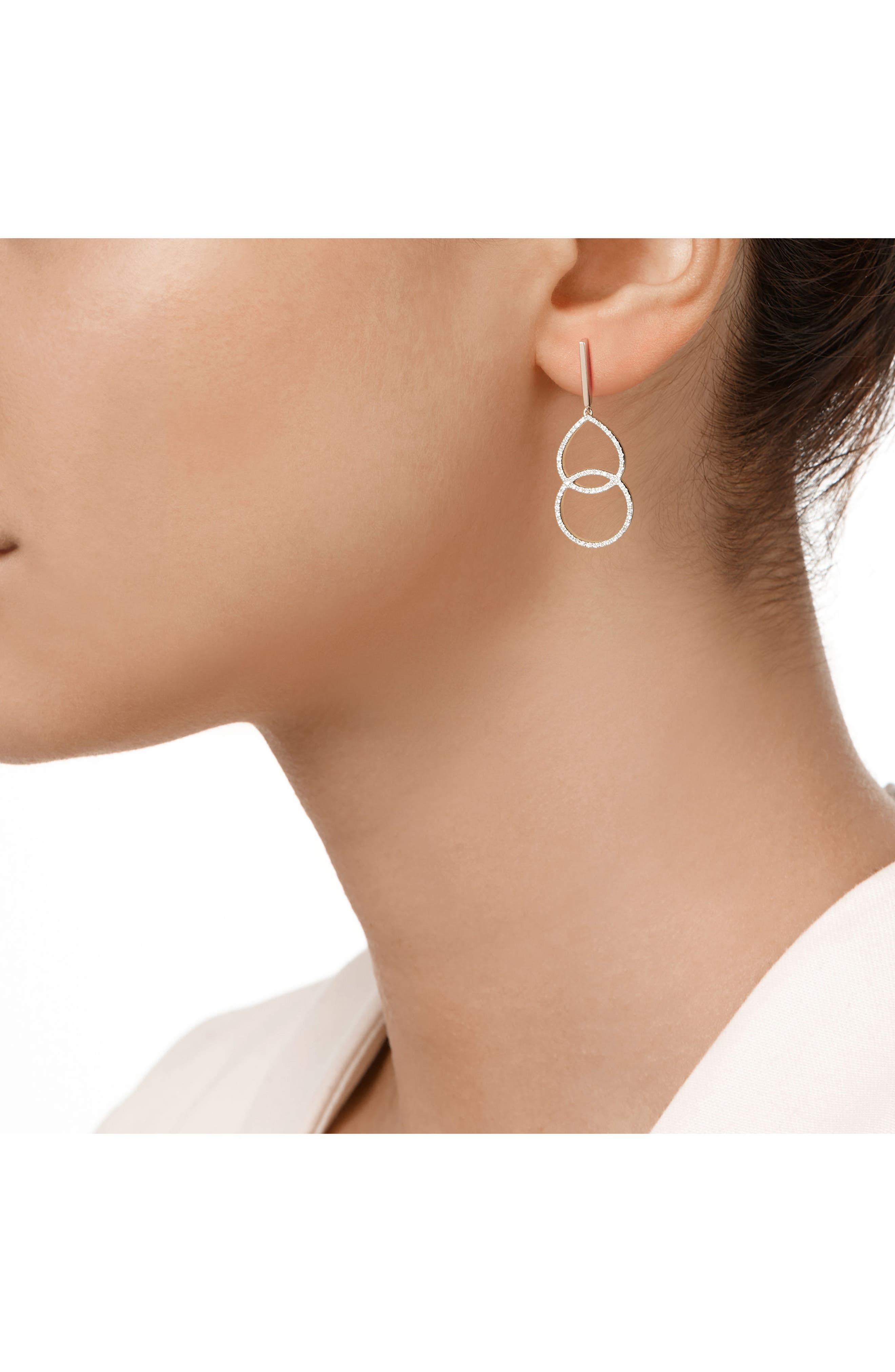Naida Diamond Kiss Drop Earrings,                             Alternate thumbnail 3, color,                             650